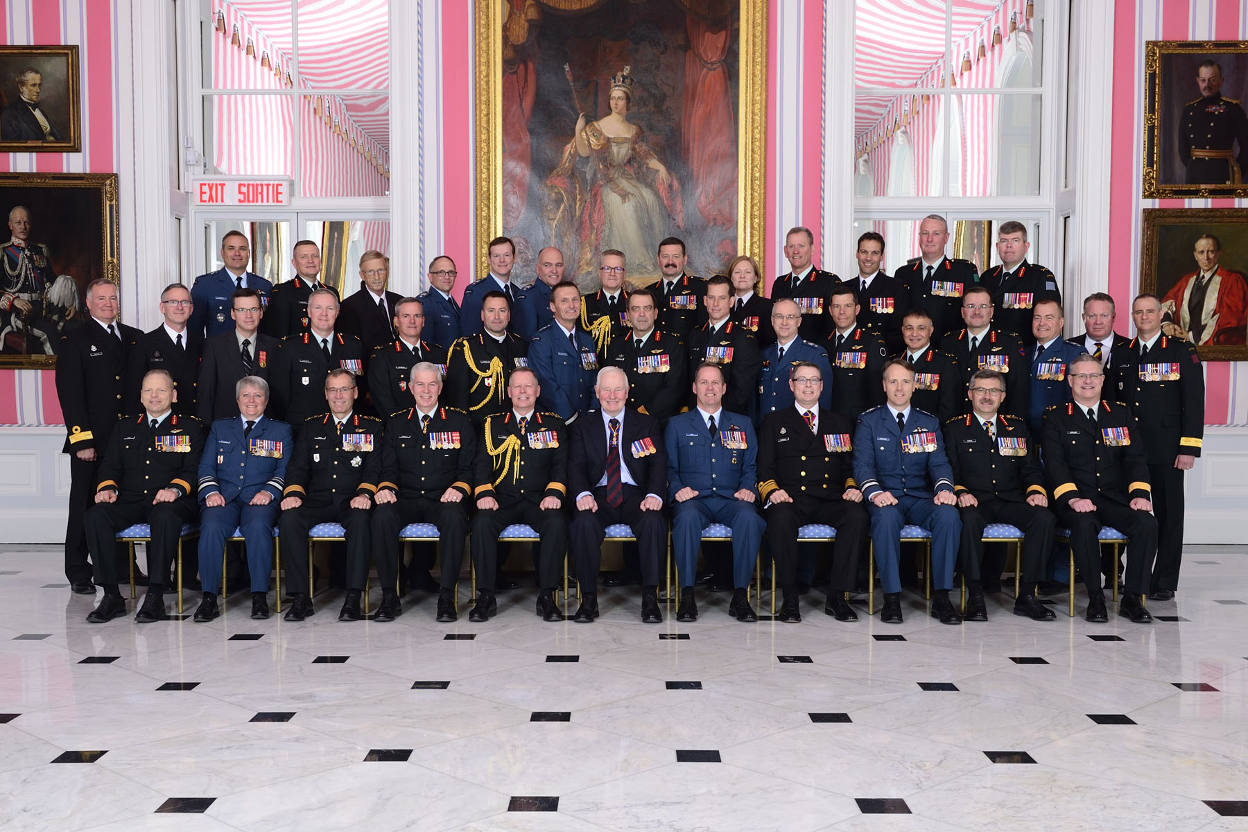 Canadian Armed Forces members received their scrolls from the Governor General and the Chief of the Defense Staff.