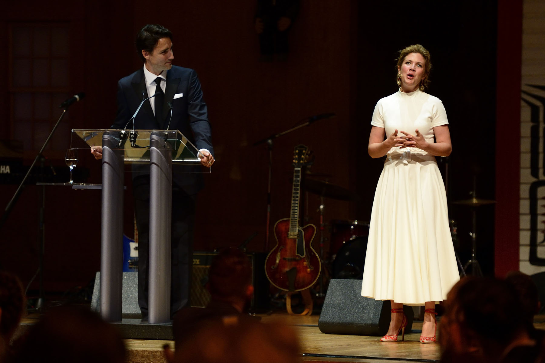 Prime Minister Justin Trudeau and Mrs. Sophie Grégoire-Trudeau offered an entertaining speech.