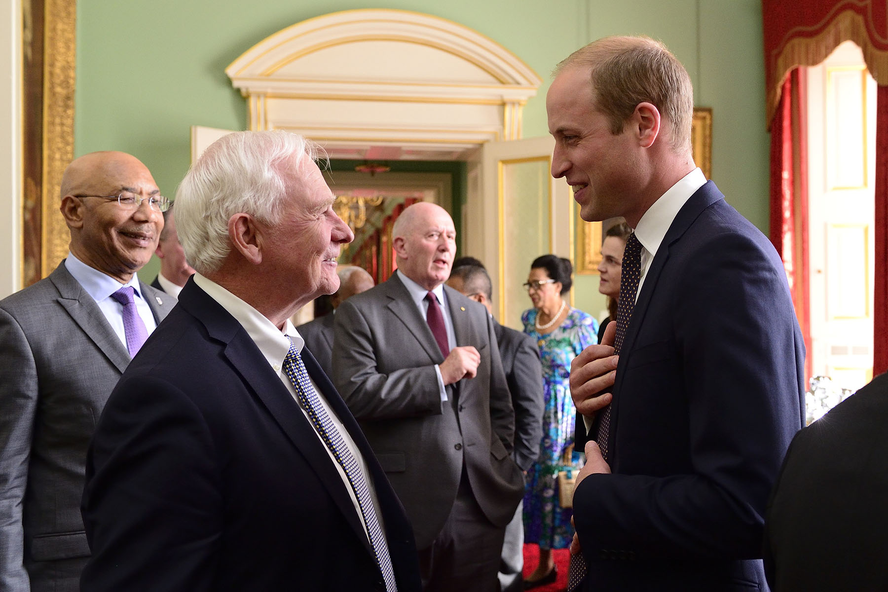 His Excellency also had the opportunity to speak with the Duke of Cambridge.