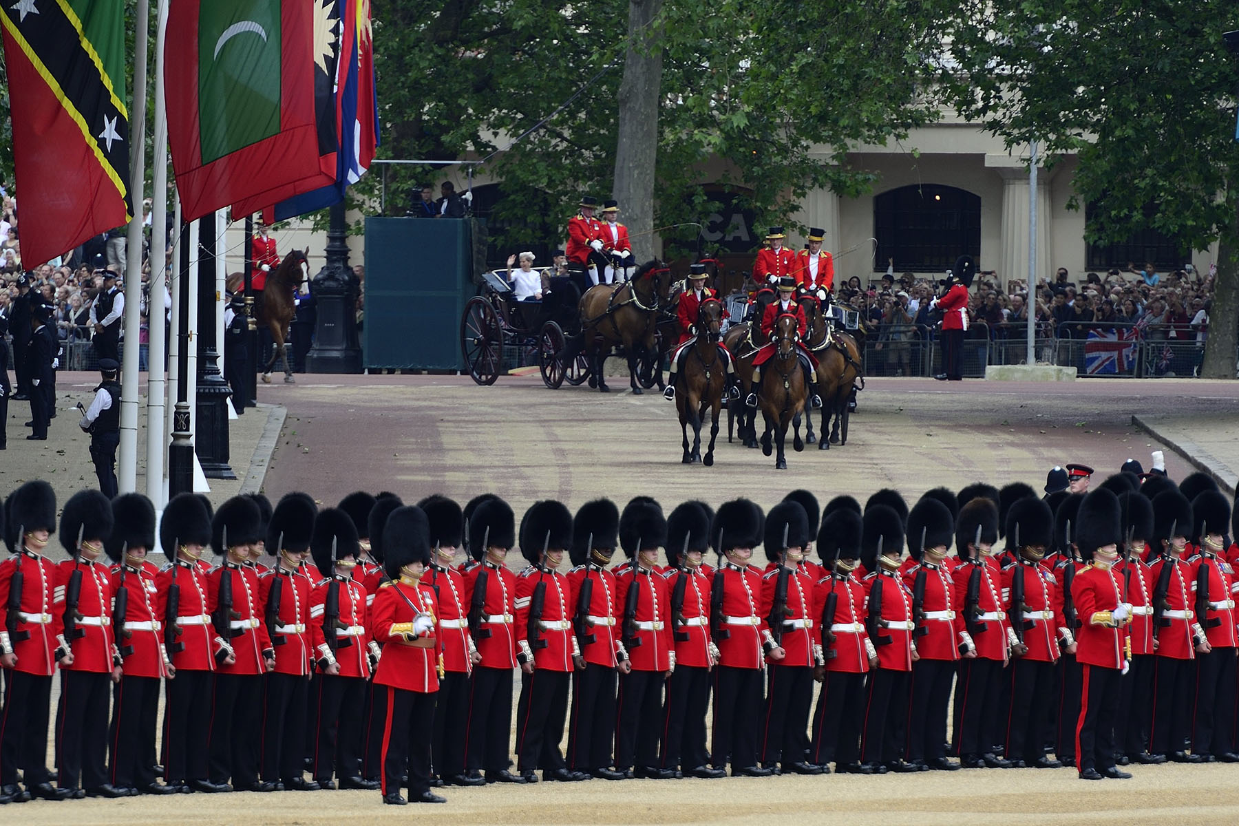 The Queen's Birthday Parade is held in June of each year to mark the Sovereign's birthday.