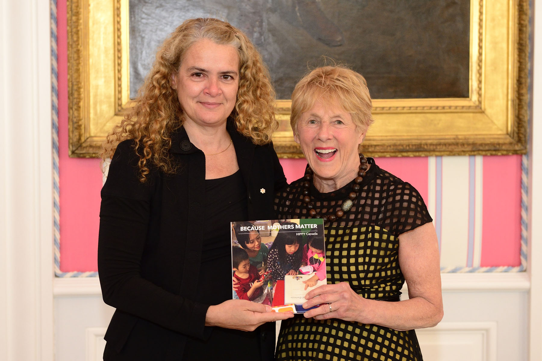 Dr. Julie Payette, astronaut, received the Because Mothers Matter Awards given to a prominent Canadian mother who hase achieved noteworthy success while giving back to her community.