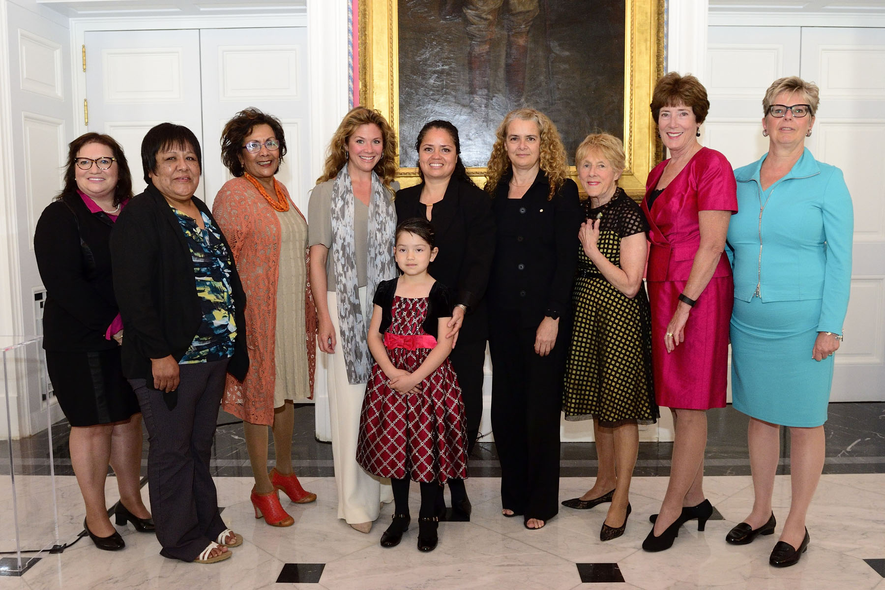 Her Excellency Sharon Johnston hosted the second Because Mothers Matter Award for Home Instruction for Parents of Preschool Youngsters (HIPPY) Canada, during a ceremony at Rideau Hall.