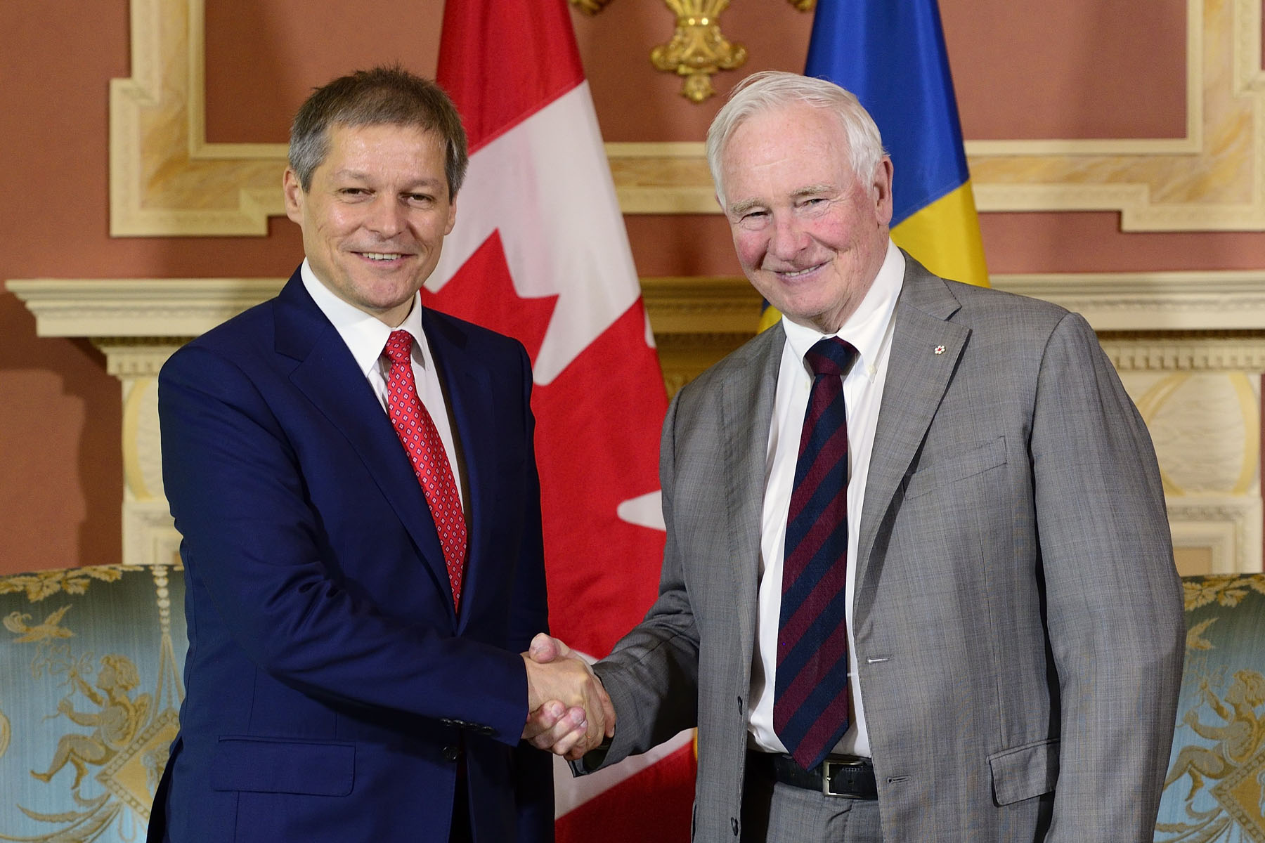On June 15, 2016, His Excellency the Right Honourable David Johnston, Governor General of Canada, met with His Excellency Dacian Ciolos, Prime Minister of Romania.