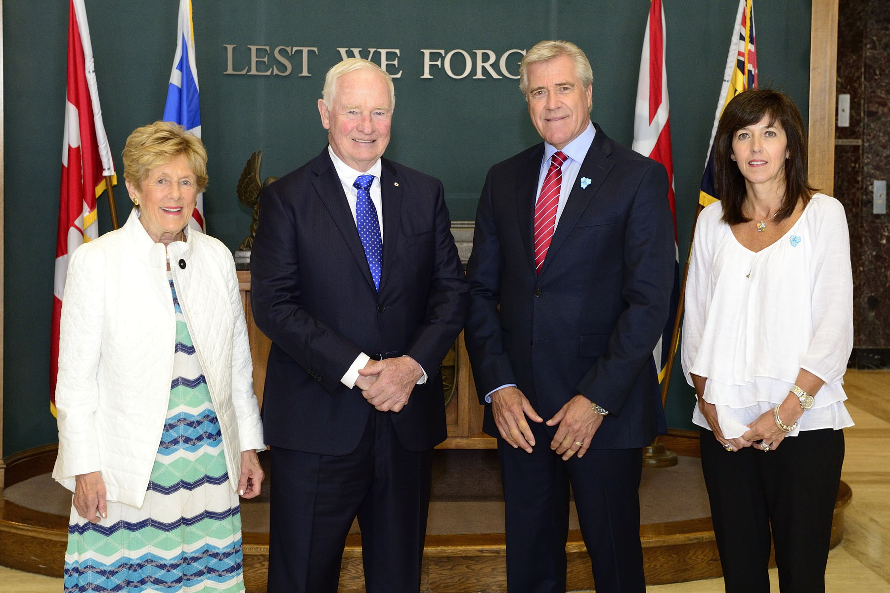 Their Excellencies the Right Honourable David Johnston, Governor General of Canada, and Mrs. Sharon Johnston met with the Honourable Dwight Ball, Premier of Newfoundland and Labrador, and Mrs. Sharon Ball.