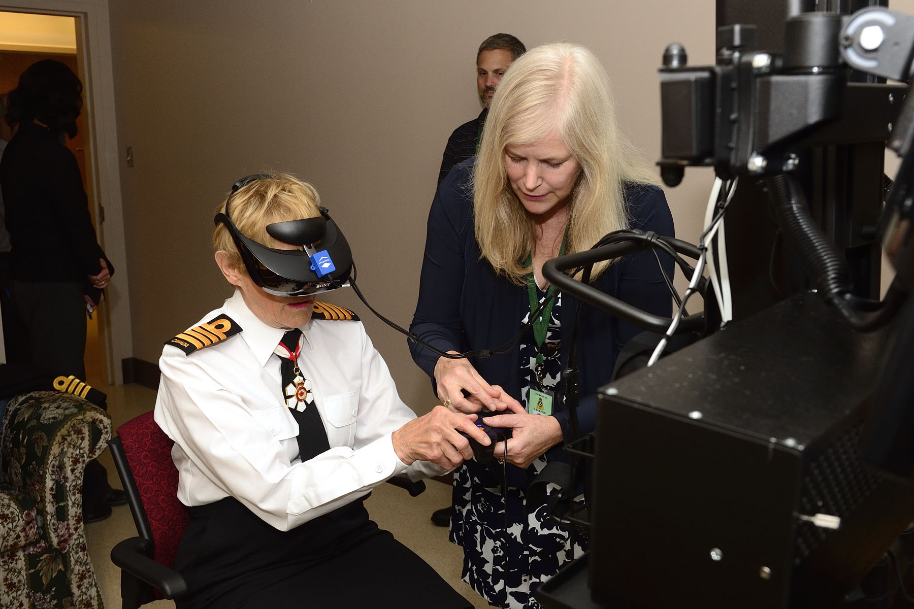 Mrs. Johnston experienced virtual reality-based exposure therapy which aims to provide military members relief from post-traumatic stress.