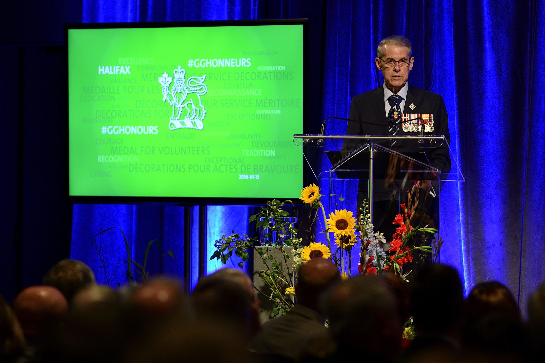 His Honour Brigadier-General the Honourable John James Grant (Ret'd), Lieutenant Governor of Nova Scotia, offered welcoming remarks.