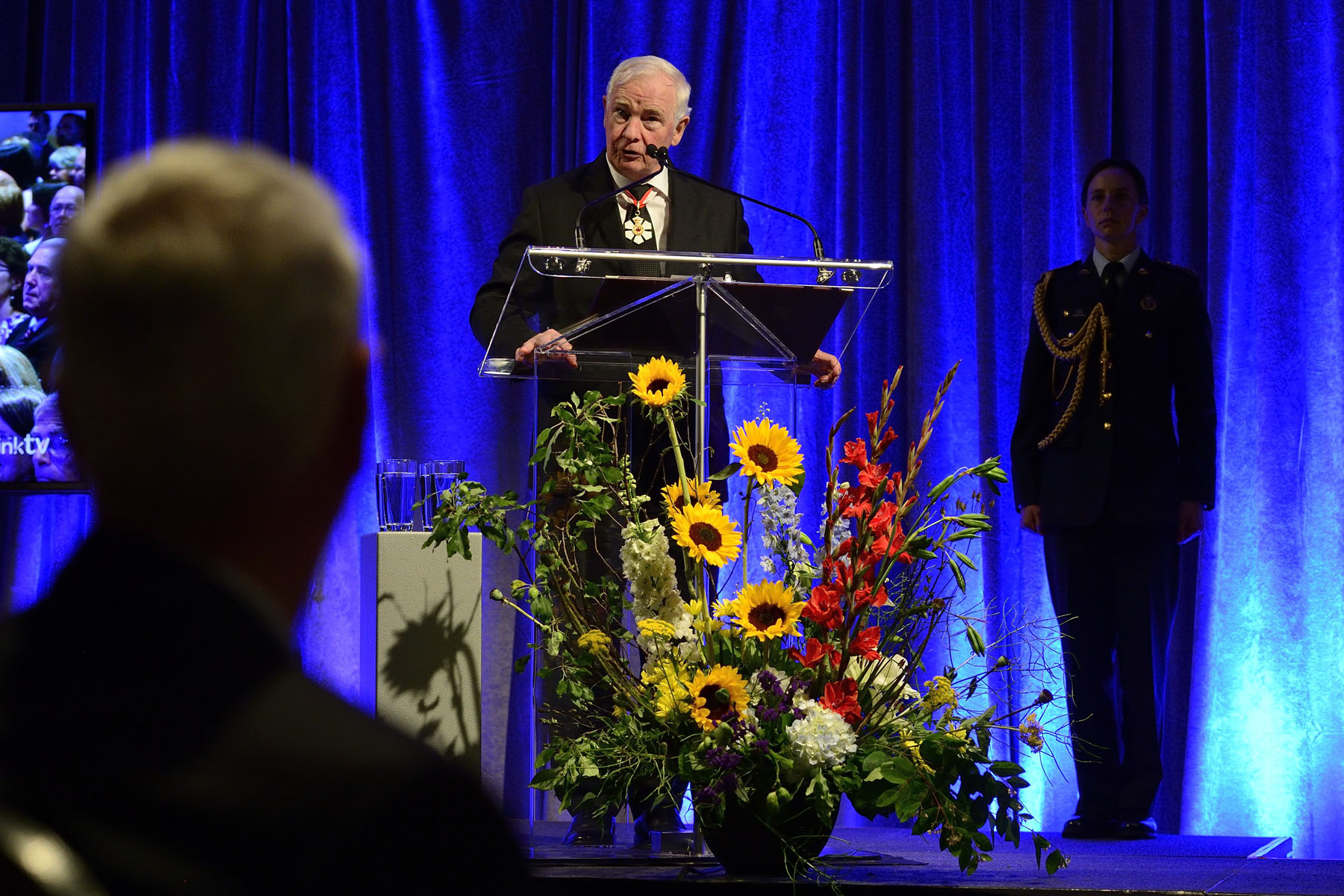 """We've borrowed our recipients from their communities for a day to honour them and to celebrate their achievements,"" said the Governor General. ""They're from communities throughout Newfoundland and Labrador, Nova Scotia, New Brunswick and Prince Edward Island. They're exceptional volunteers, professionals and innovators. They're caregivers and members of the military. They're courageous. They're philanthropists in the broadest sense of the word: they share a love for humanity."""