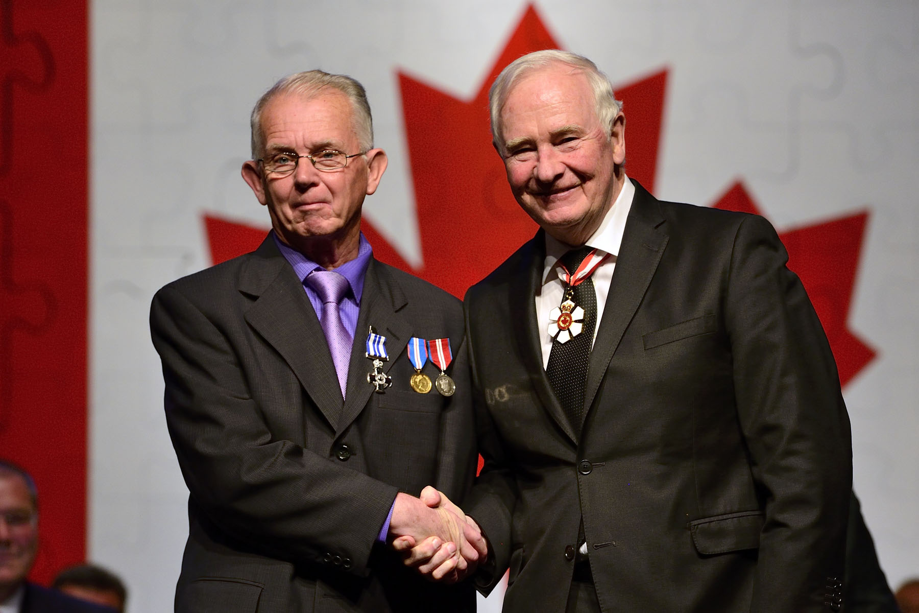 The Meritorious Service Cross (Civil Division) was presented to Paul A. Young, M.S.C. With great determination, Mr. Young works to generate awareness of the issues facing people with a disability. Drawing purpose from his own battle with cerebral palsy, he helped found People First Nova Scotia to seek social justice and equality. He went on to serve as national president of People First of Canada, where he helped grow the organization and became well known for speaking out for disability rights.