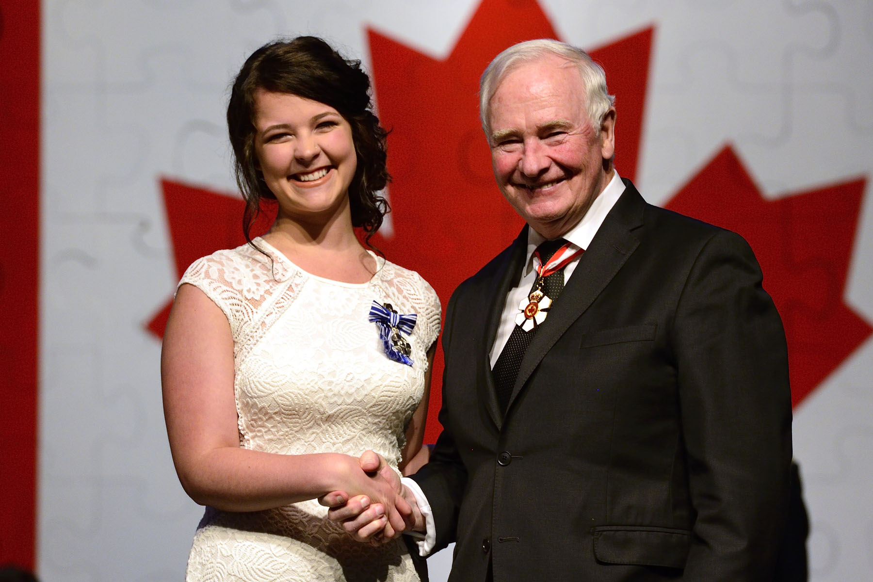 The Meritorious Service Medal (Civil Division) was presented to Maike van Niekerk, M.S.M. Determined to create a legacy for her mother who died of breast cancer, Ms. van Niekerk created Katrin's Karepackage, an organization that raises funds to offset rural cancer patients' travel costs to access care in Halifax and St. John's. She has cycled across Newfoundland and ran seven marathons in seven days to symbolize patients' long journeys to access treatment.