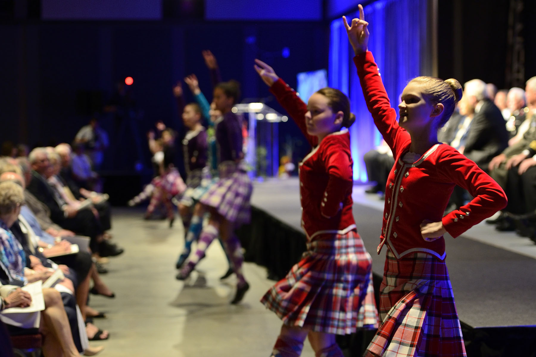 Dancers from the Halifax Highland Dancing Association entertained guests during a cultural interlude.