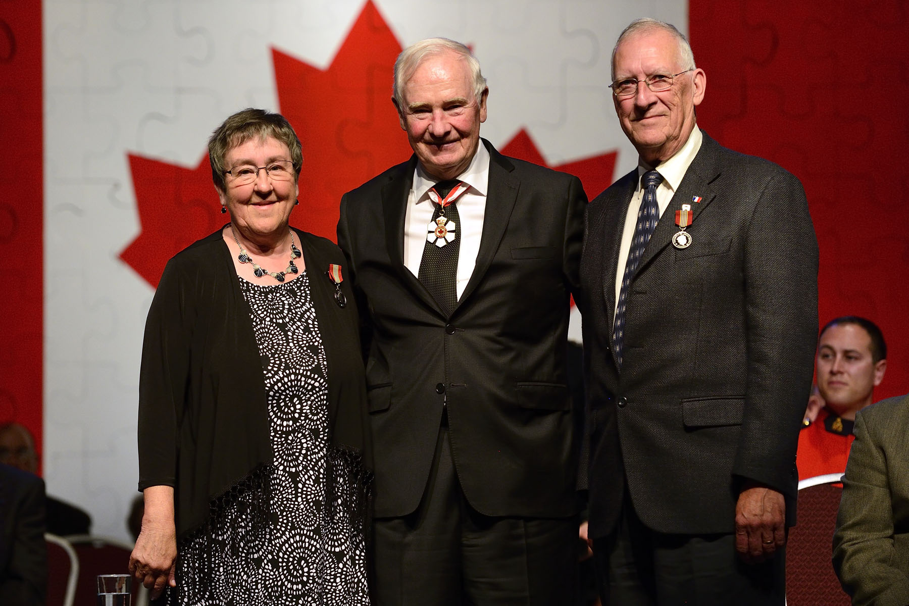 The Sovereign's Medal for Volunteers was presented to Zita and Edmond Gallant. The husband and wife duo has promoted French arts and culture with such organizations as the Coopérative de développement culturel et patrimonial de Mont-Carmel and Communities in Bloom. Through the years, they have brought together P.E.I.'s Francophone community and preserved French language and Acadian heritage.