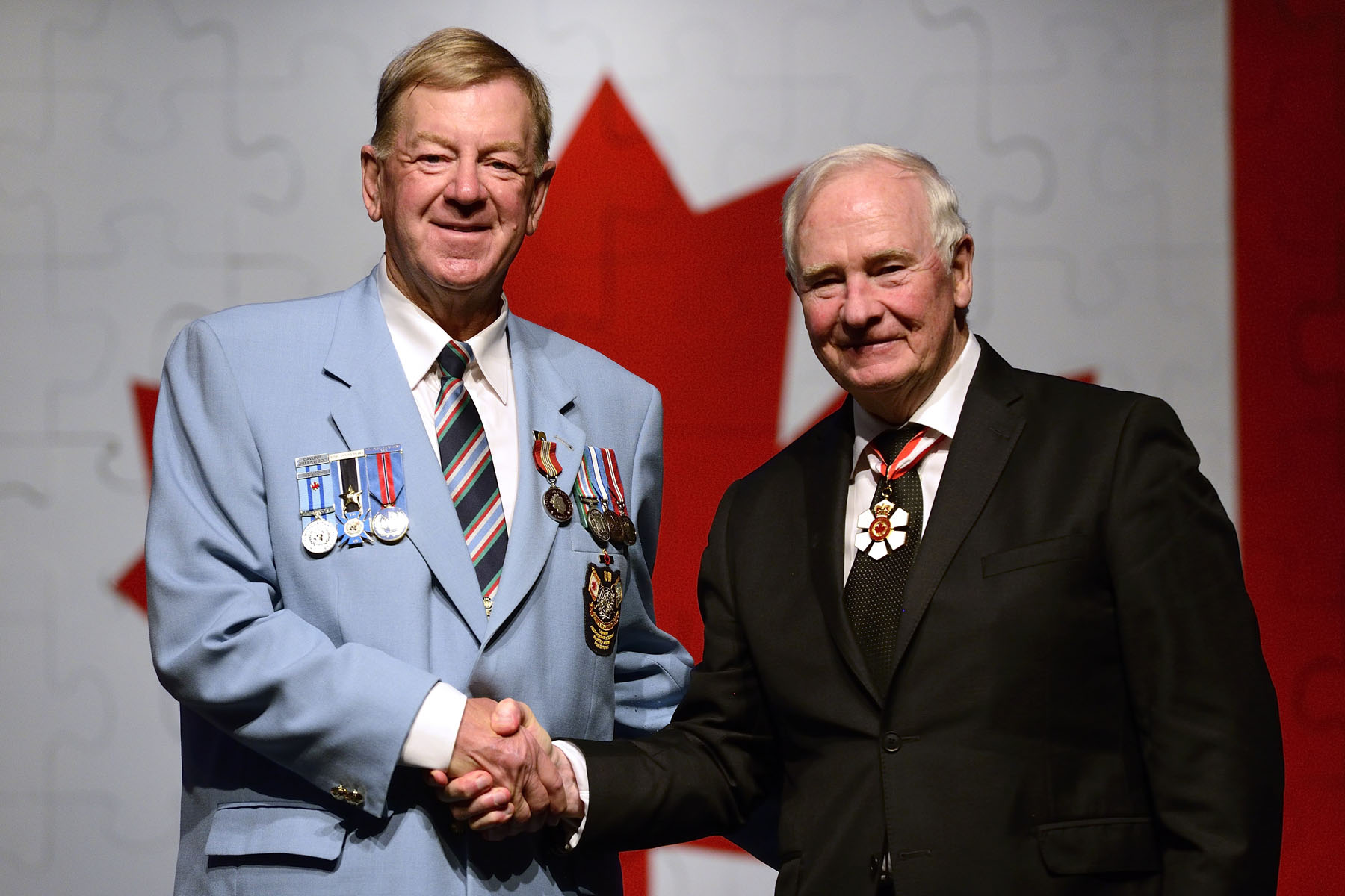 The Sovereign's Medal for Volunteers was presented to Ronald Griffis for dedicating his time to improving the lives of his fellow veterans and their families through the Canadian Association of Veterans in United Nations Peacekeeping. A former national president, he has established regional and provincial chapters across Canada to support veterans at the national, provincial and local levels.