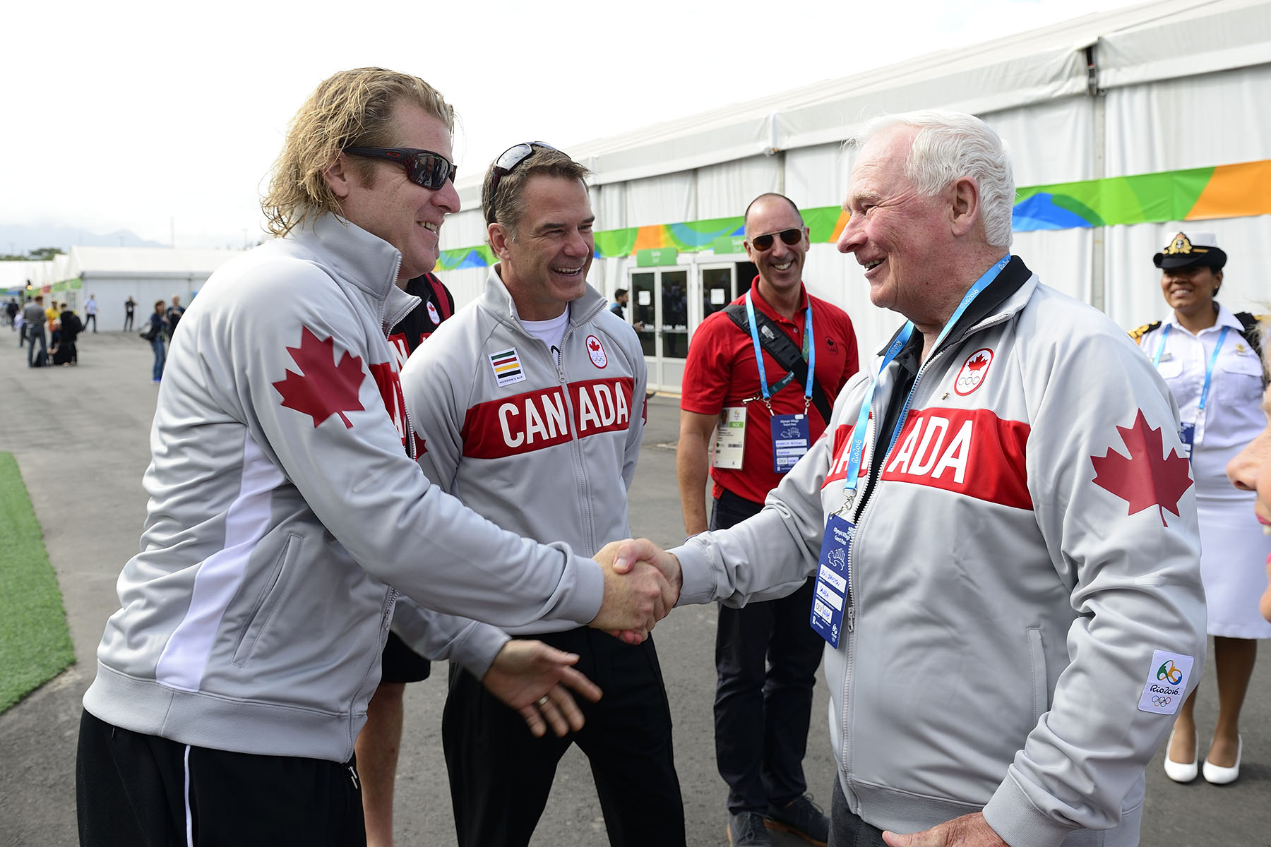 On August 4, 2016, Mr. Curt Harnett, Team Canada's Chef de Mission for the Rio Olympic Games, welcomed Their Excellencies to the Athletes' Village.