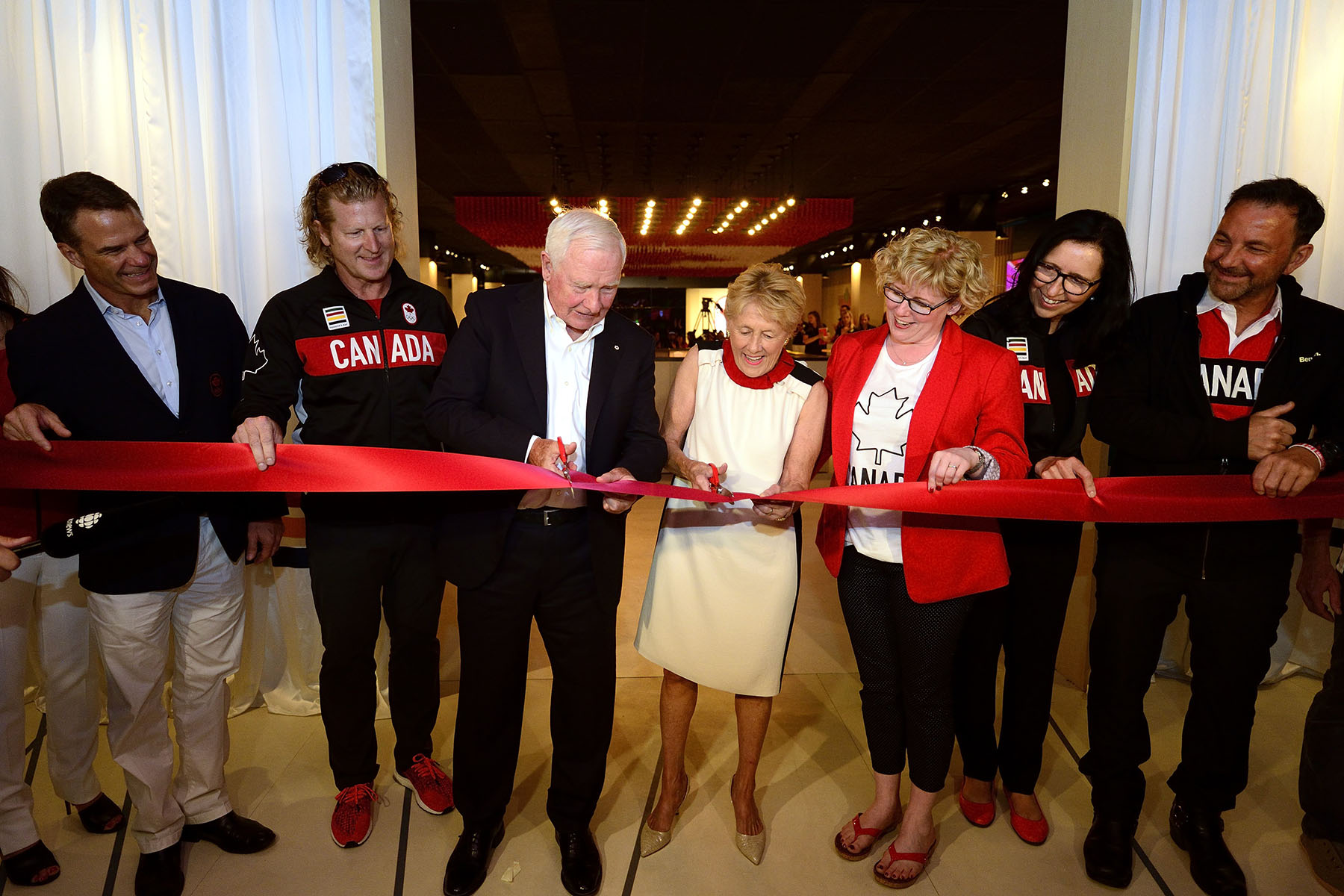 In the evening, Their Excellencies attended the ceremony marking the official opening of Canada Olympic House.