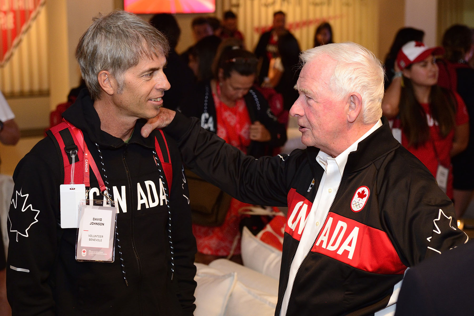 The Governor General spent time meeting with Team Canada volunteers.