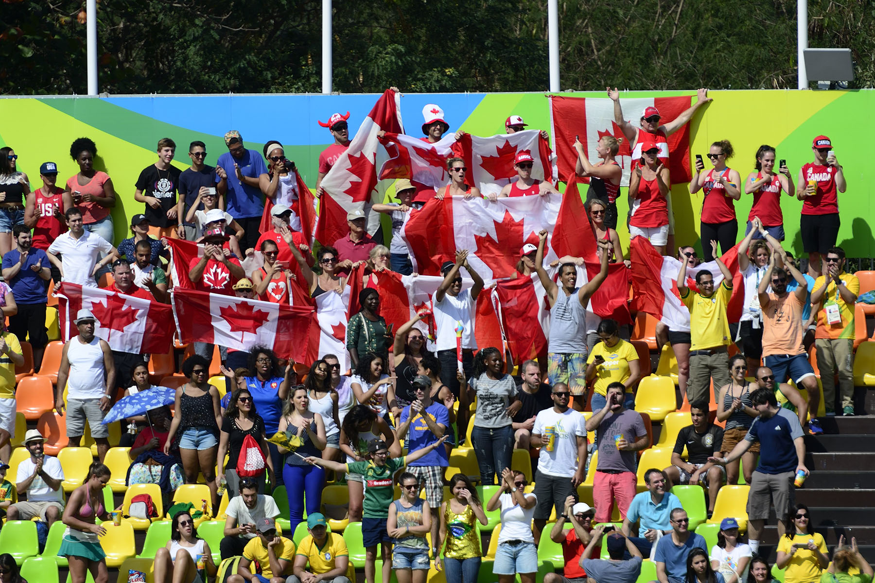 Canadian fans proudly showed their flags in support of our athletes.