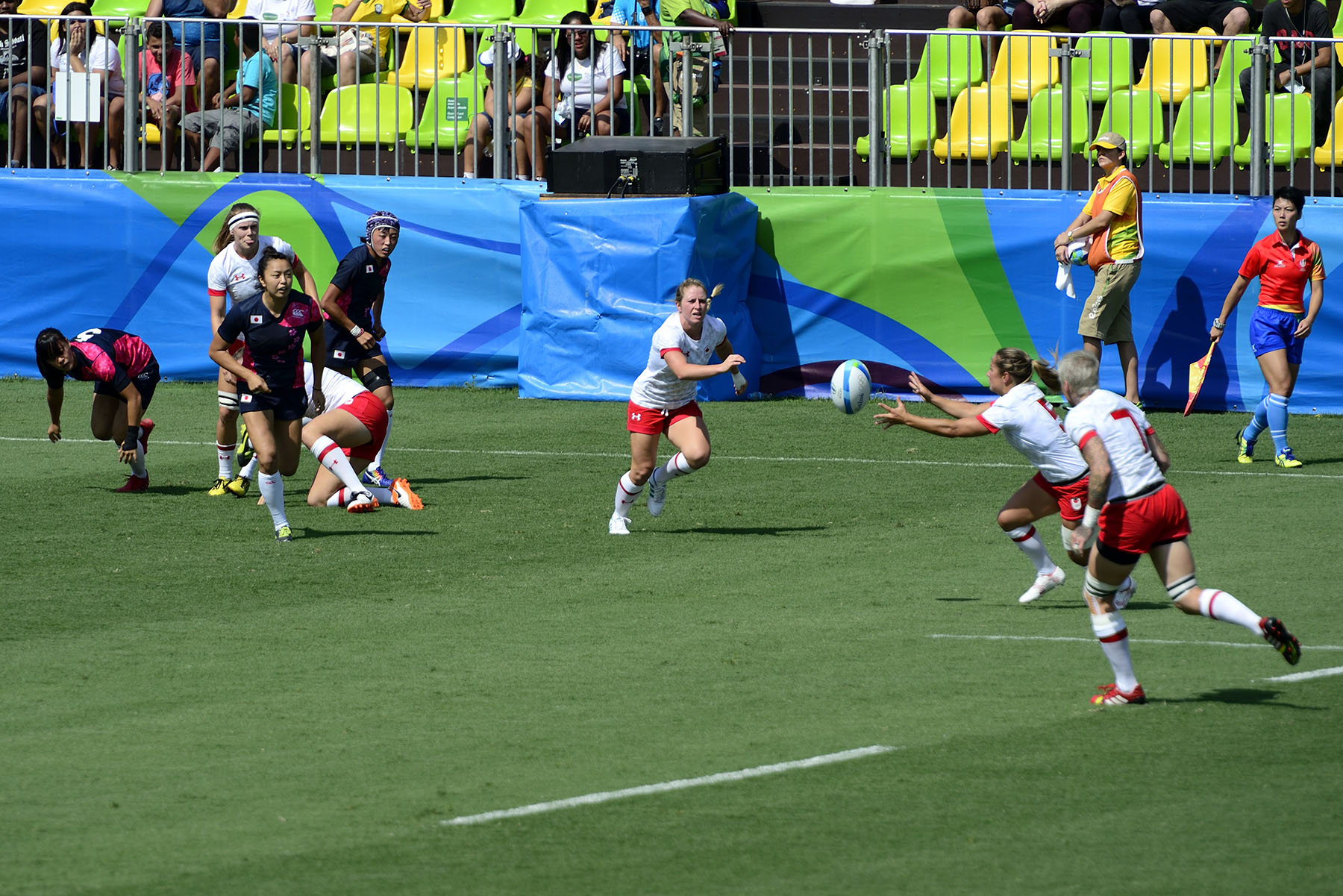 The Canadian women's Rugby Sevens team took on Japan in a first exciting game.