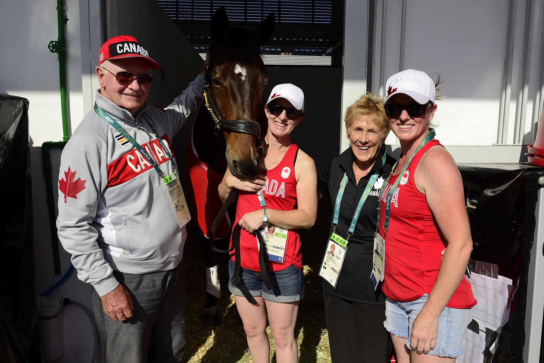 Afterwards, they visited the stables and met with members of Canada's equestrian team.