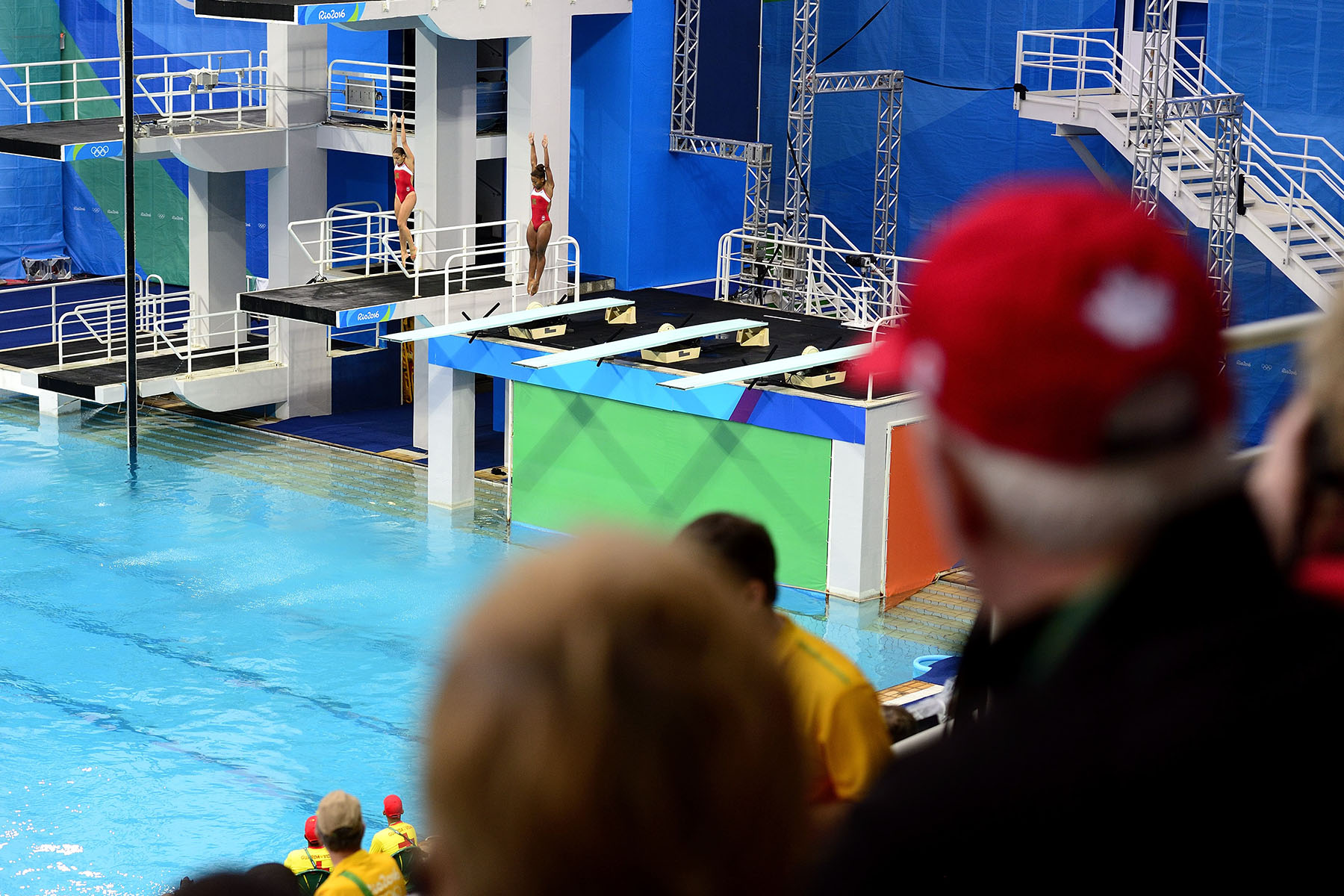 Their Excellencies attended the synchronised 3-metre springboard final.