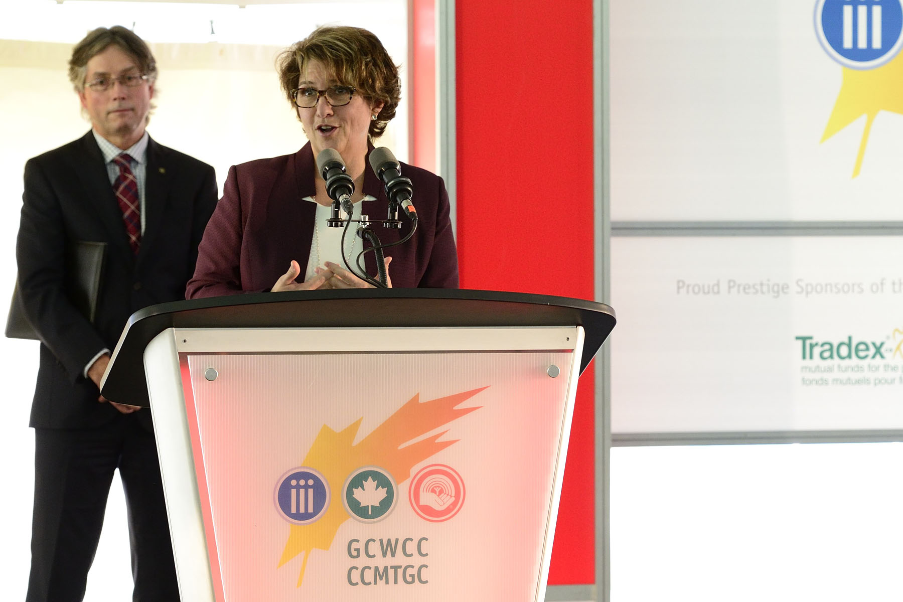 Ms. Marie Lemay, National Co-Chair of the 2016 GCWCC and Deputy Minister for Public Services and Procurement, also said a few words.