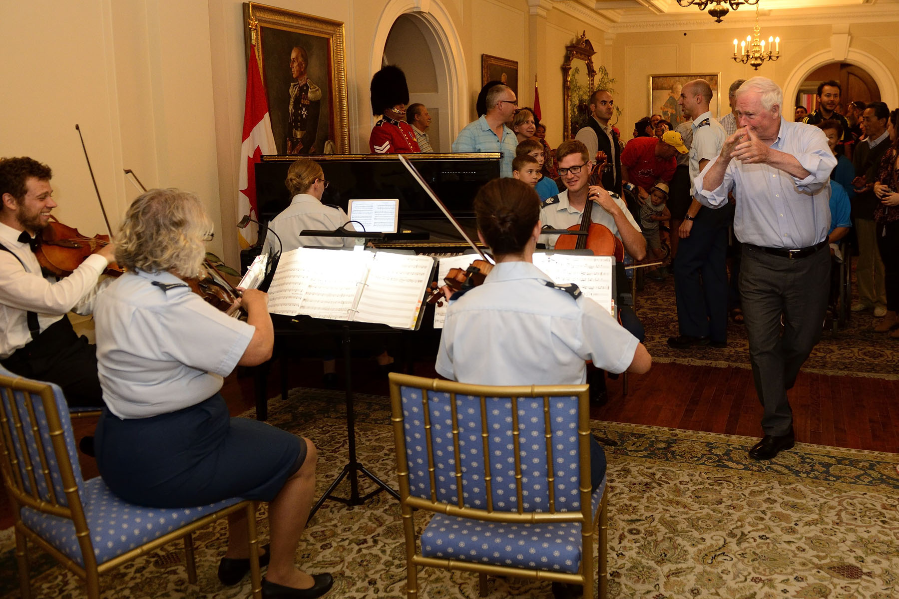 The Governor General and visitors danced to the beat of the string quartet.