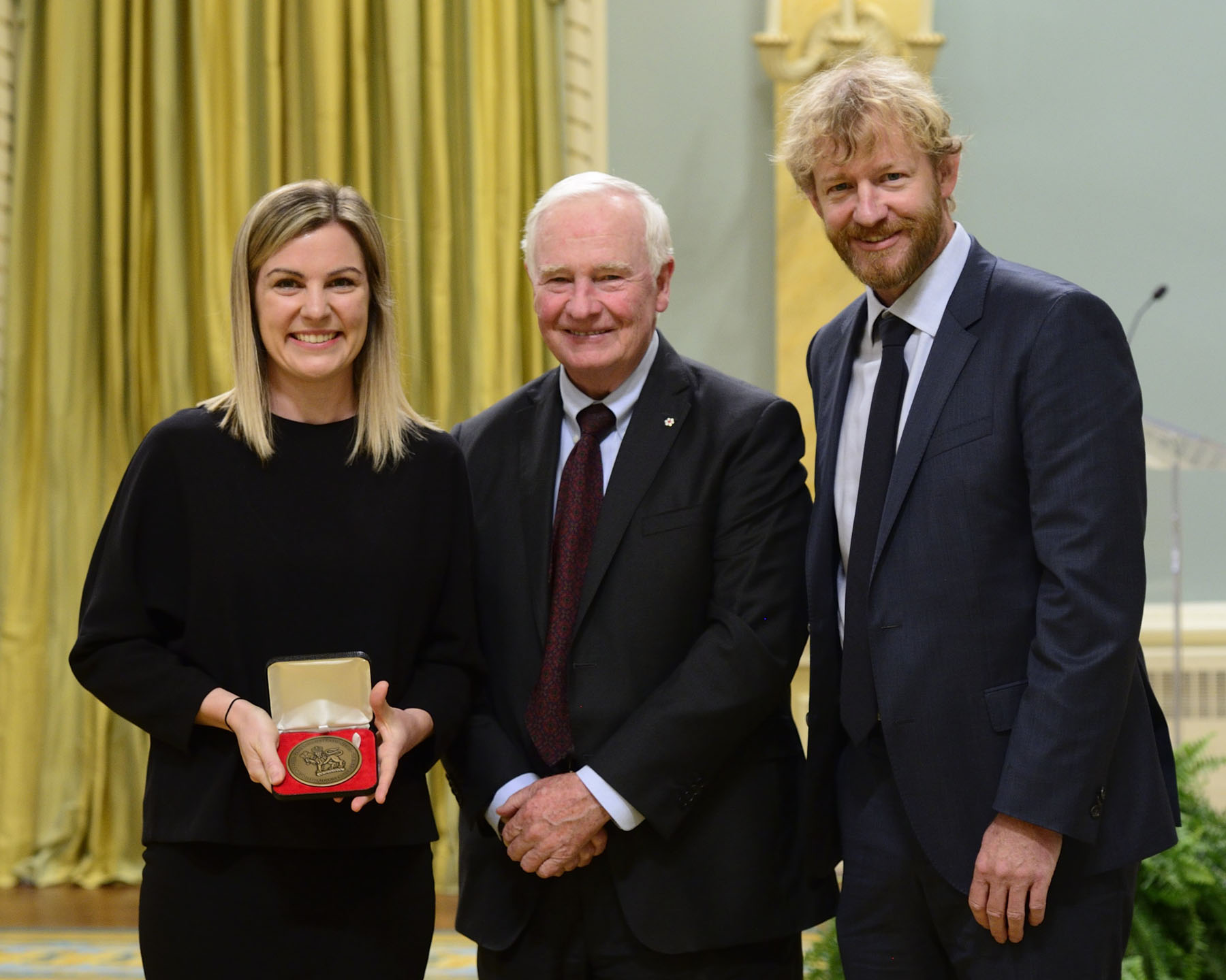"His Excellency presented the 2016 Governor General's Medal in Architecture to Micheal Green Architecture, Vancouver, British Columbia, for the project of the Ronald McDonald House BC & Yukon. It provides a ""home away from home"" for out-of-town families with children receiving medical treatment in Vancouver."