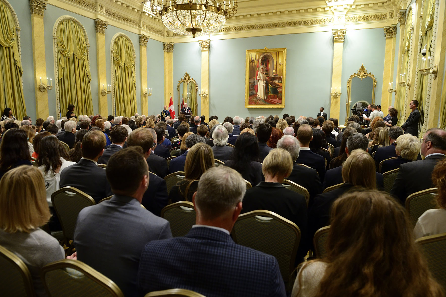 The Governor General presided over an Order of Canada investiture ceremony at Rideau Hall on 