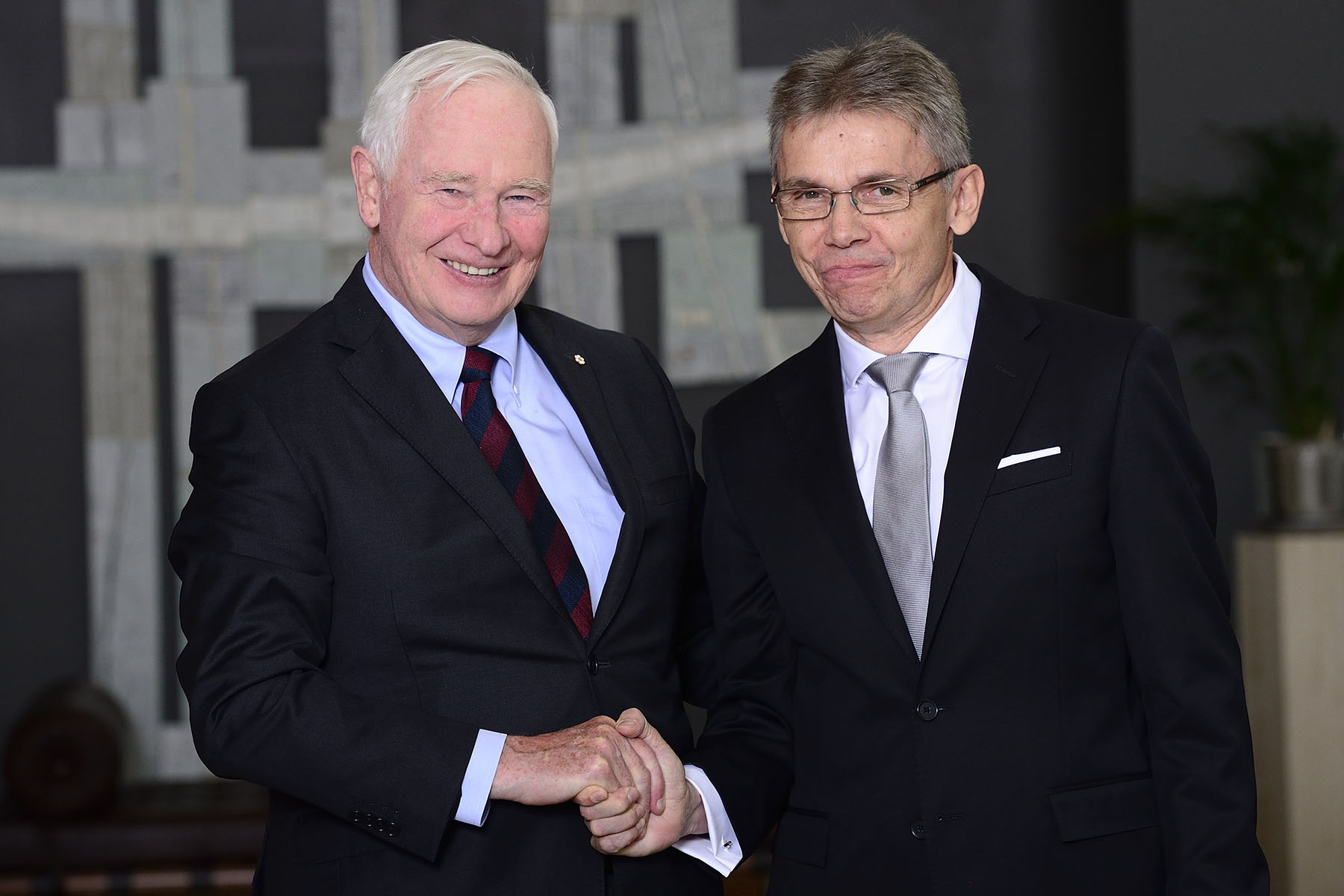 The Governor General then received the letters of credence of His Excellency Vesa Ilmari Lehtonen, ambassador of the Republic of Finland.