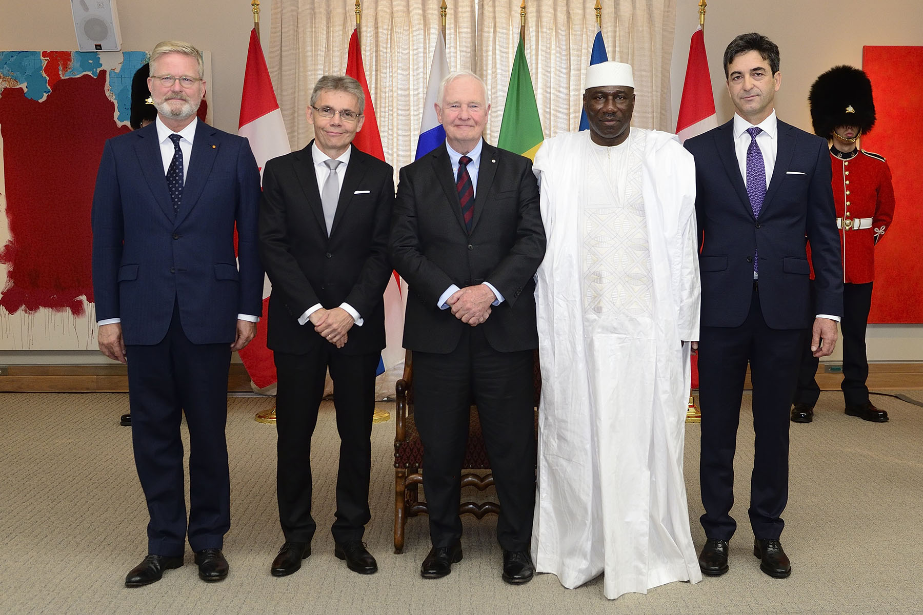 Letters of credence are the official documents by which new heads of diplomatic missions are presented by their head of State as their official representative. Currently, there are more than 170 heads of diplomatic missions accredited to Canada.