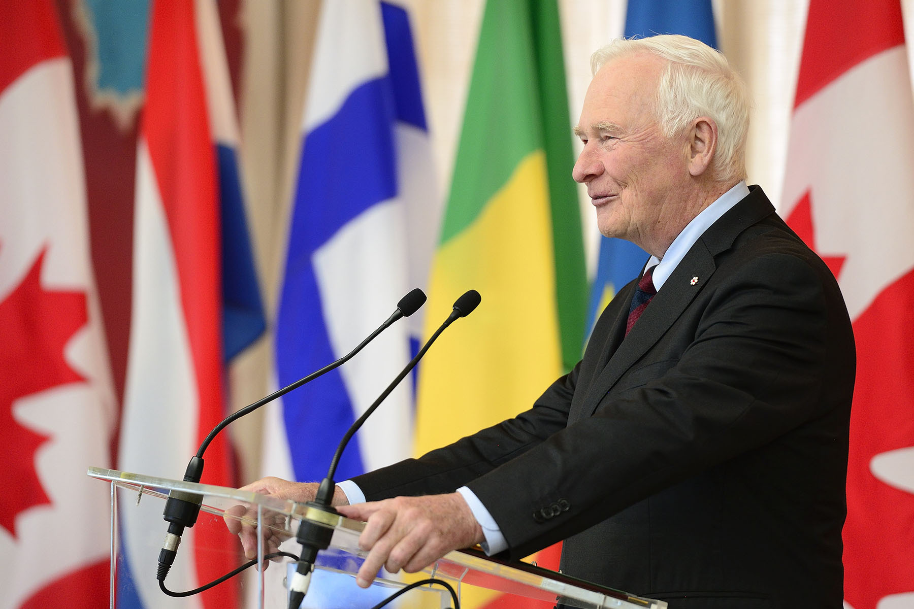 """I  want to thank you for being here to learn about Canada and to share your country's unique perspective,"" said the Governor General. ""Let's all work together towards a fairer, more just and peaceful world."""