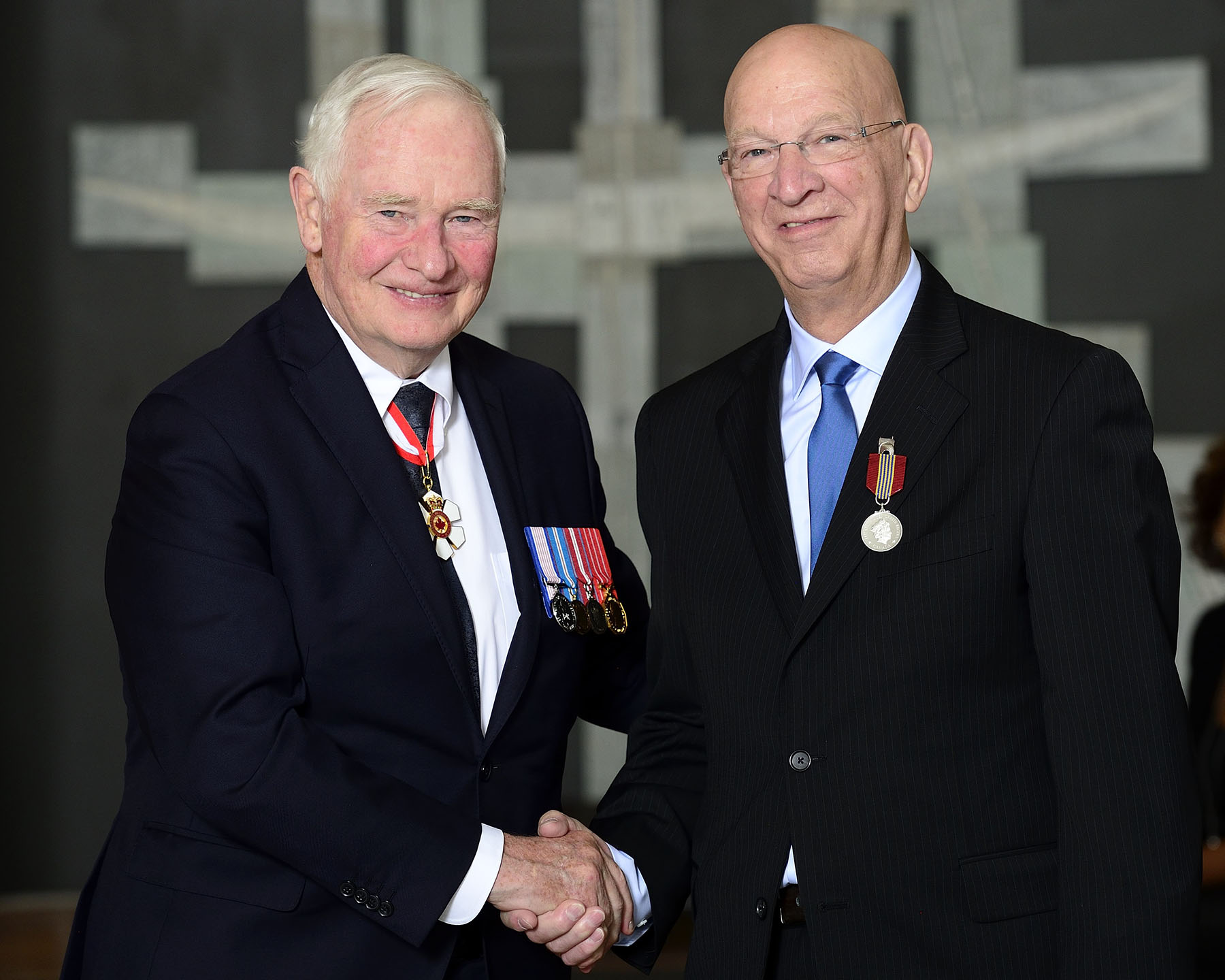 His Excellency presented André Gamache with the Sovereign's Medal for Volunteers for founding Collaboration Québec-Haïti, a non-profit organization that helps disadvantaged communities in Haiti. His efforts and the partnerships he built, were instrumental in helping the Haitian people rebuild the village of Labrousse – as well as their lives.