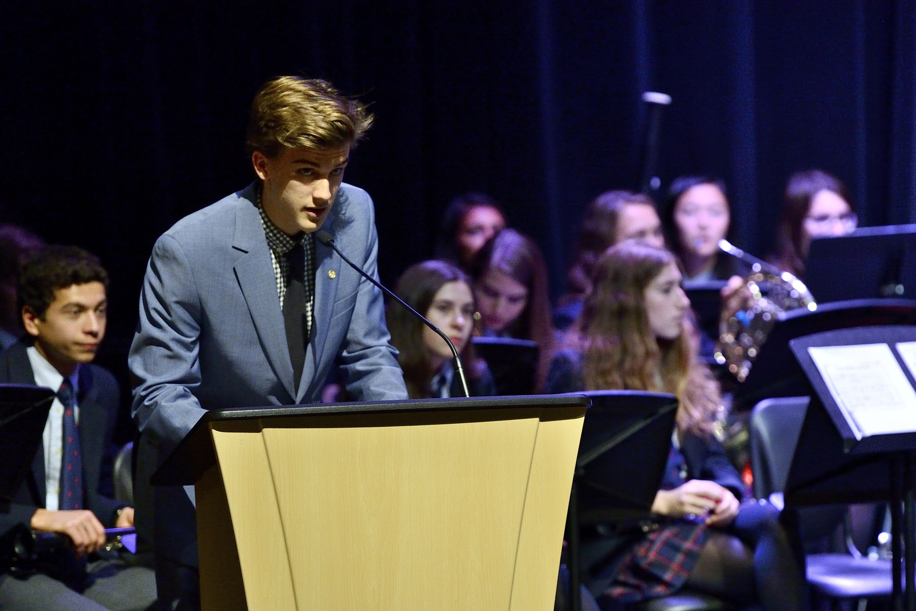 One of the recipients of The Duke of Edinburgh's Gold Award, shared his experience with the audience.