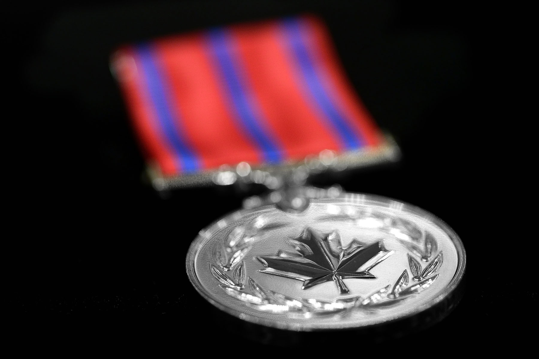 The Medal of Bravery (M.B.) recognizes acts of bravery in hazardous circumstances.