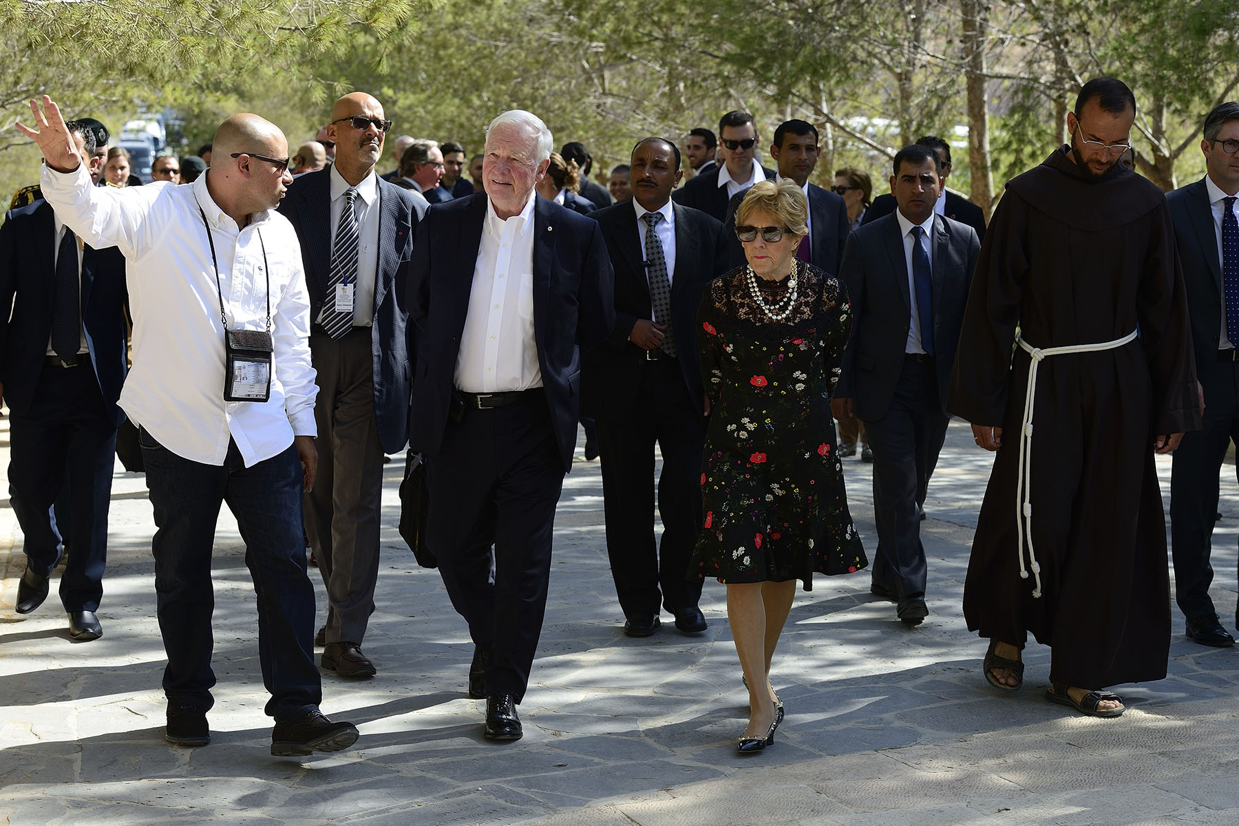 Their Excellencies visited Mount Nebo, one of the most revered holy sites of Jordan, located west of the Roman Byzantine town of Madaba.