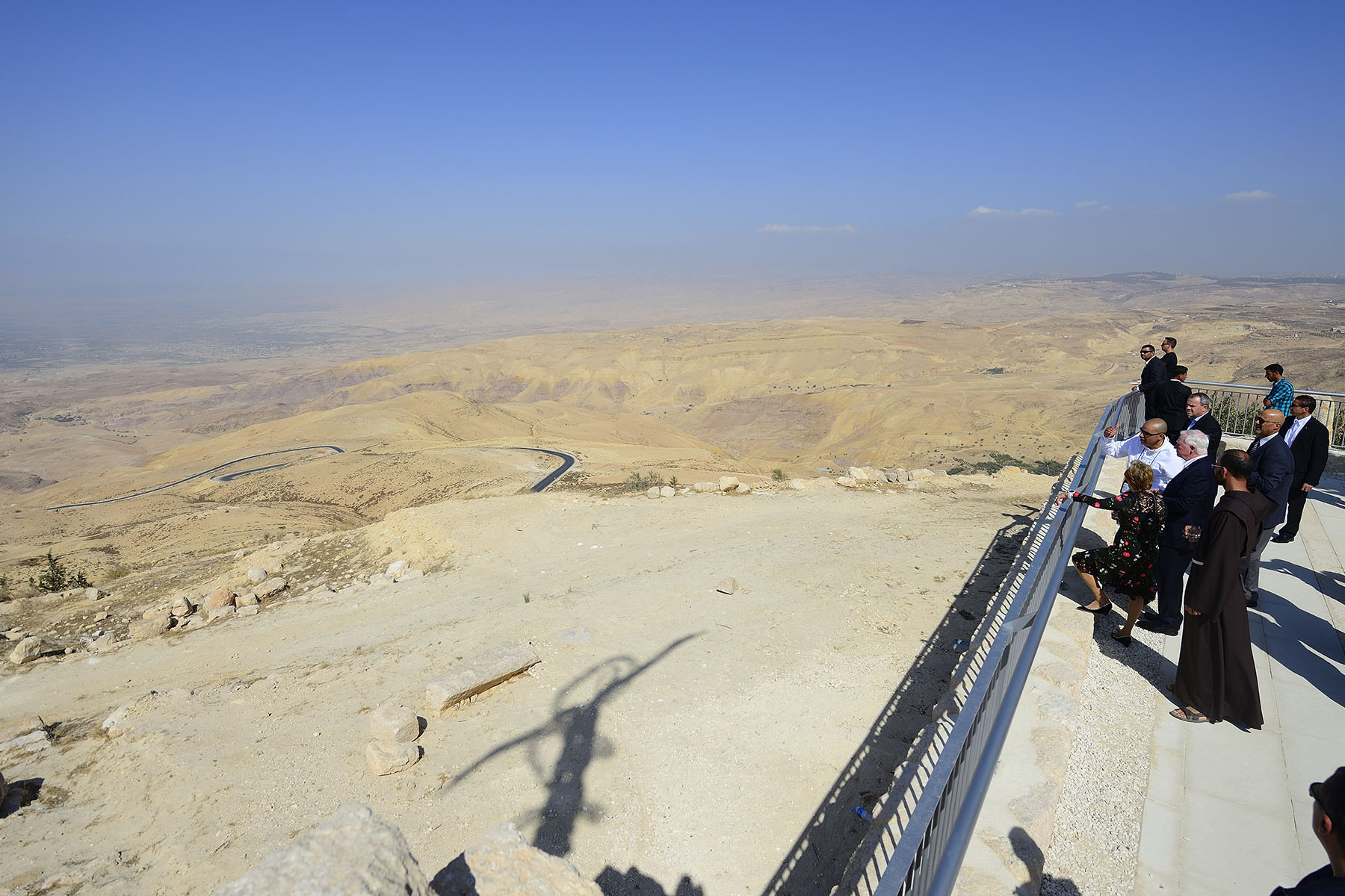 The summit offers a panorama of the Holy Land and southern Jordan.