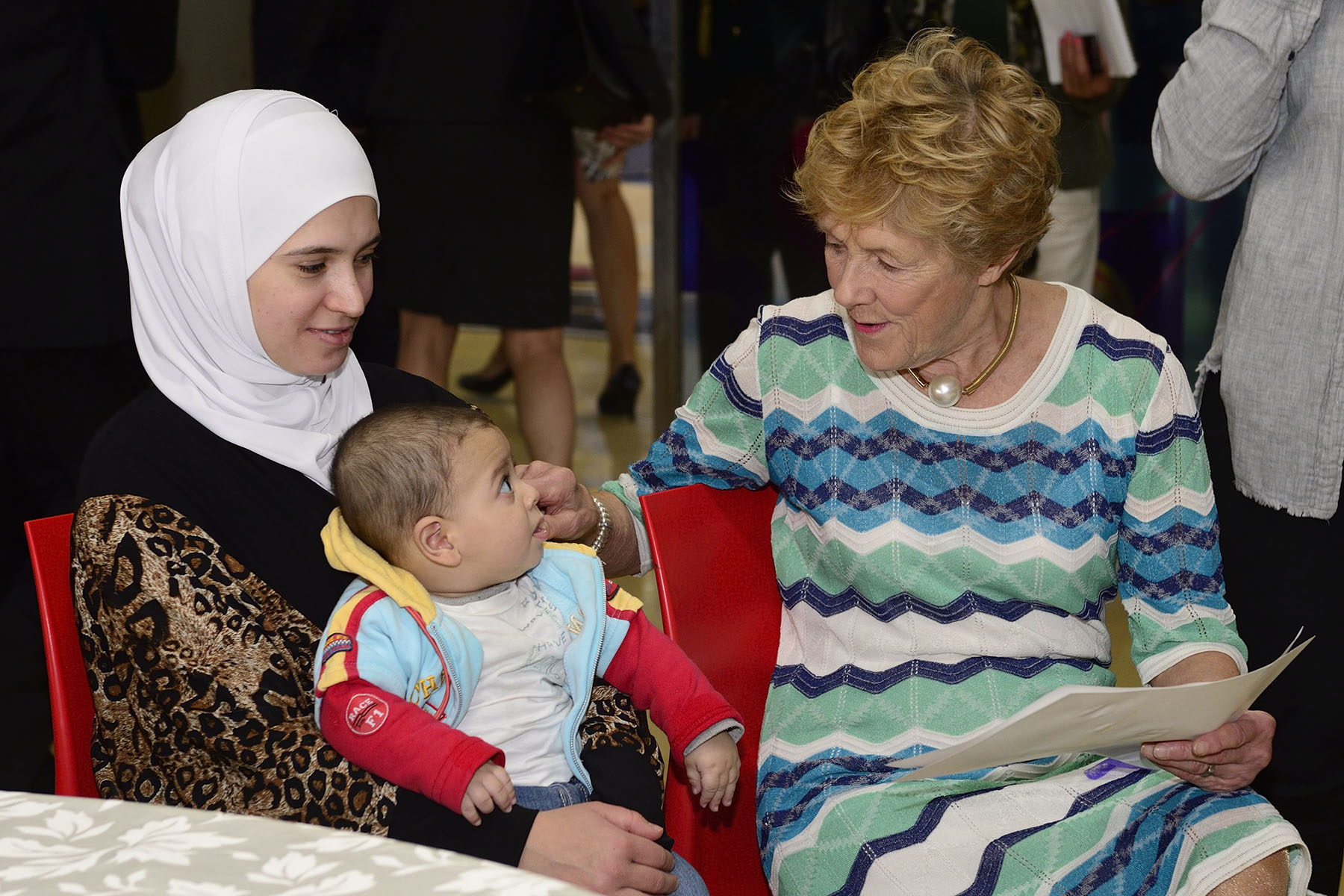 This was an opportunity for Her Excellency to engage with the Syrian refugee families and understand their reality and the challenges they face.