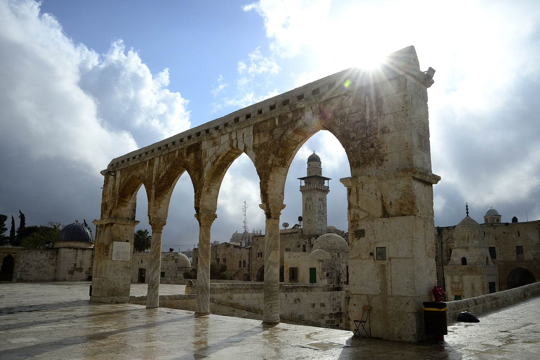 The Al-Aqsa Mosque is the third holiest site in Islam.