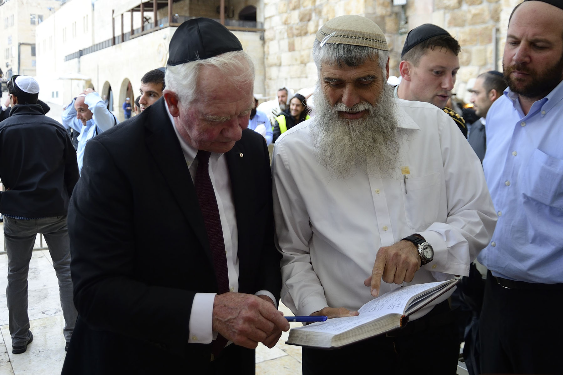 Next, Their Excellencies visited the Western Wall.