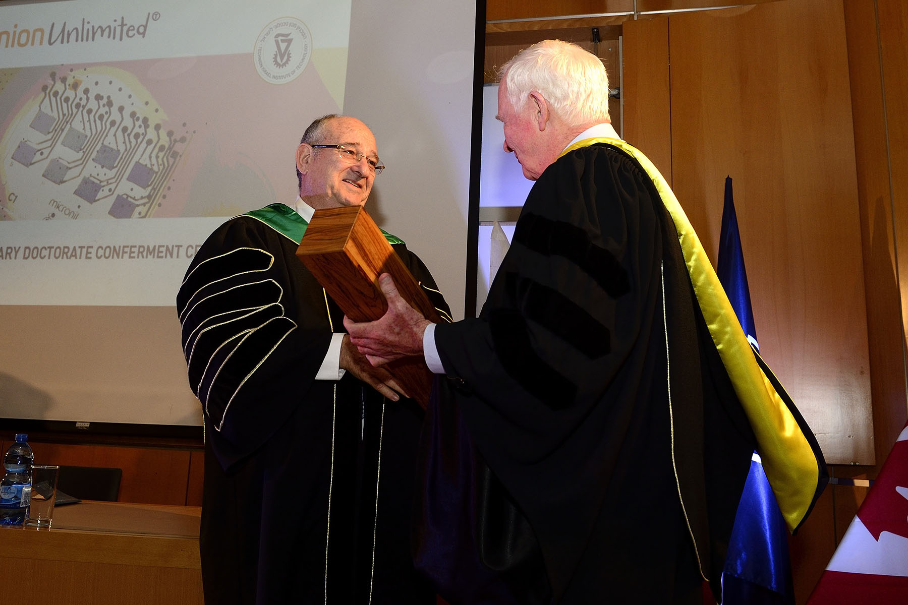 The Governor General received an honorary doctorate from The Technion–Israel Institute of Technology for his contributions to the Canada-Israel innovation relationship.