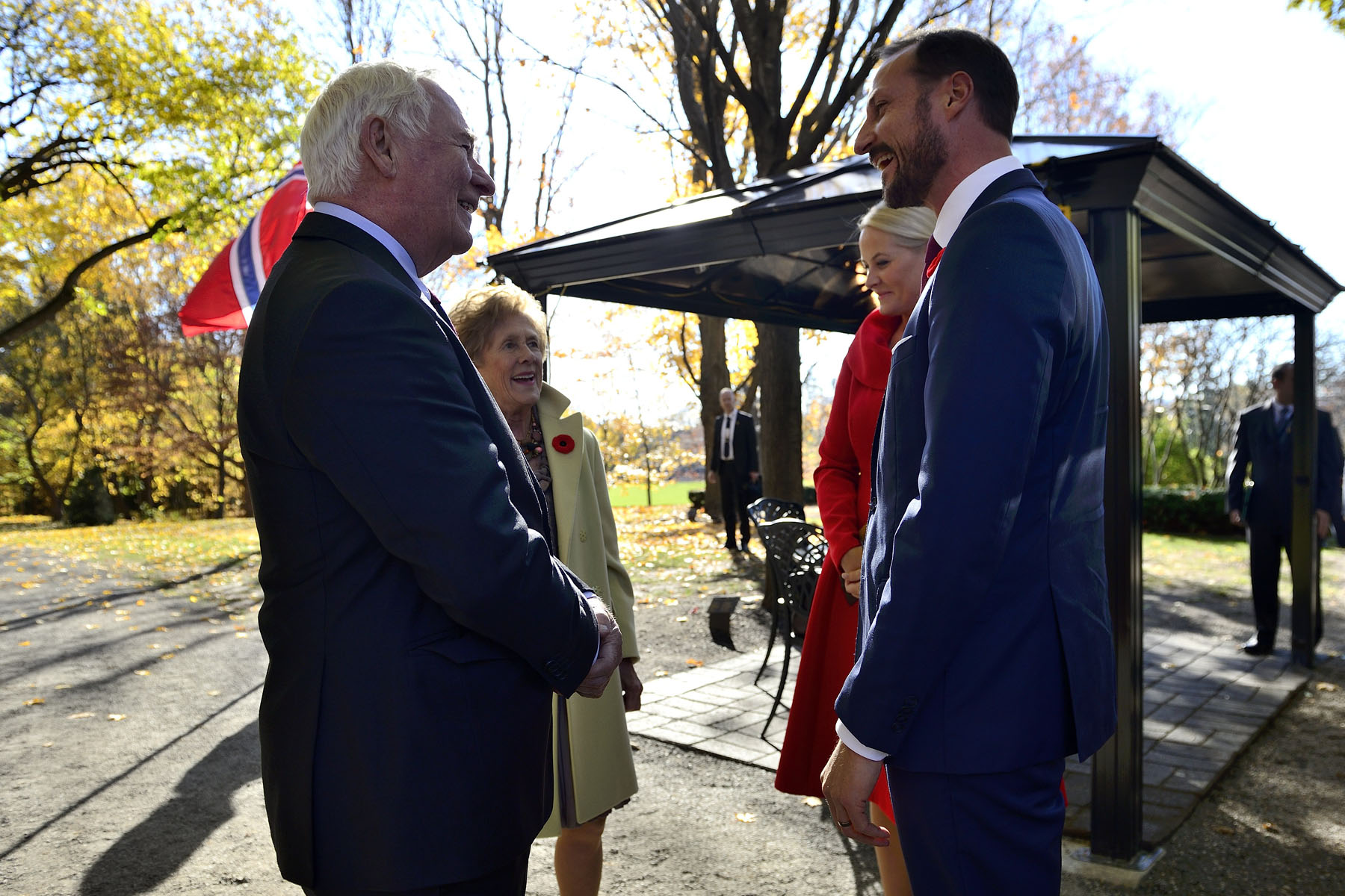 Their Excellencies the Right Honourable David Johnston, Governor General of Canada, and Mrs. Sharon Johnston met with Their Royal Highnesses The Crown Prince and The Crown Princess of Norway at Rideau Hall.