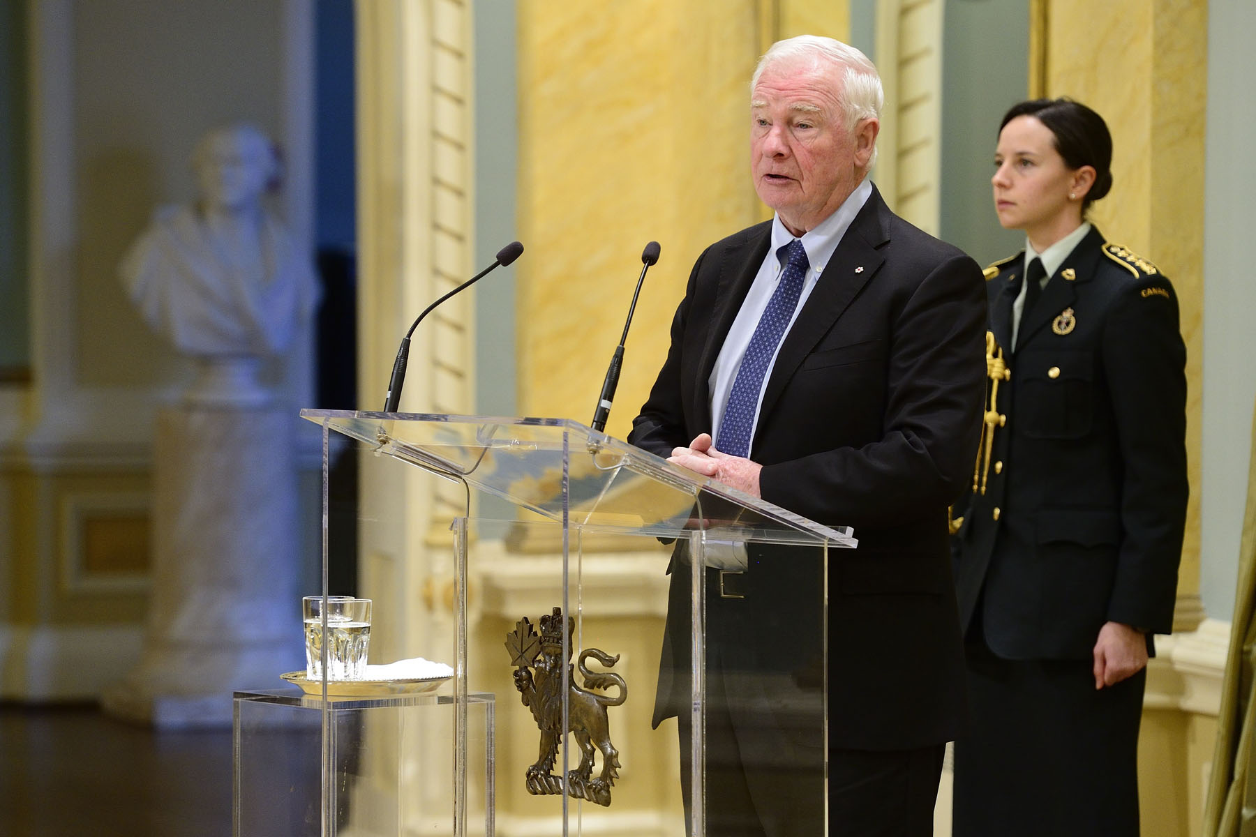 """I believe that diplomacy plays such a key role in building a better world. Because positive international relations—built on trust and respect—are essential to our collective well-being. Thus it is with great hope and optimism that I greet you today,"" said the Governor General."