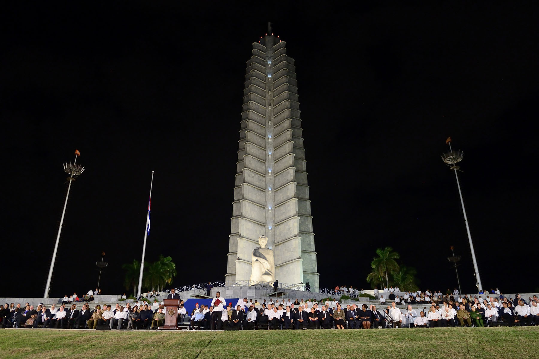 In front of the Plaze de la Revolución, the Jose Marti Memorial dominates the square and features a 109 metres tall tower and large Statue. Jose Marti is an important figure in Latin American literature who dedicated his life to the promotion of liberty and Cuba's political independence from Spain.