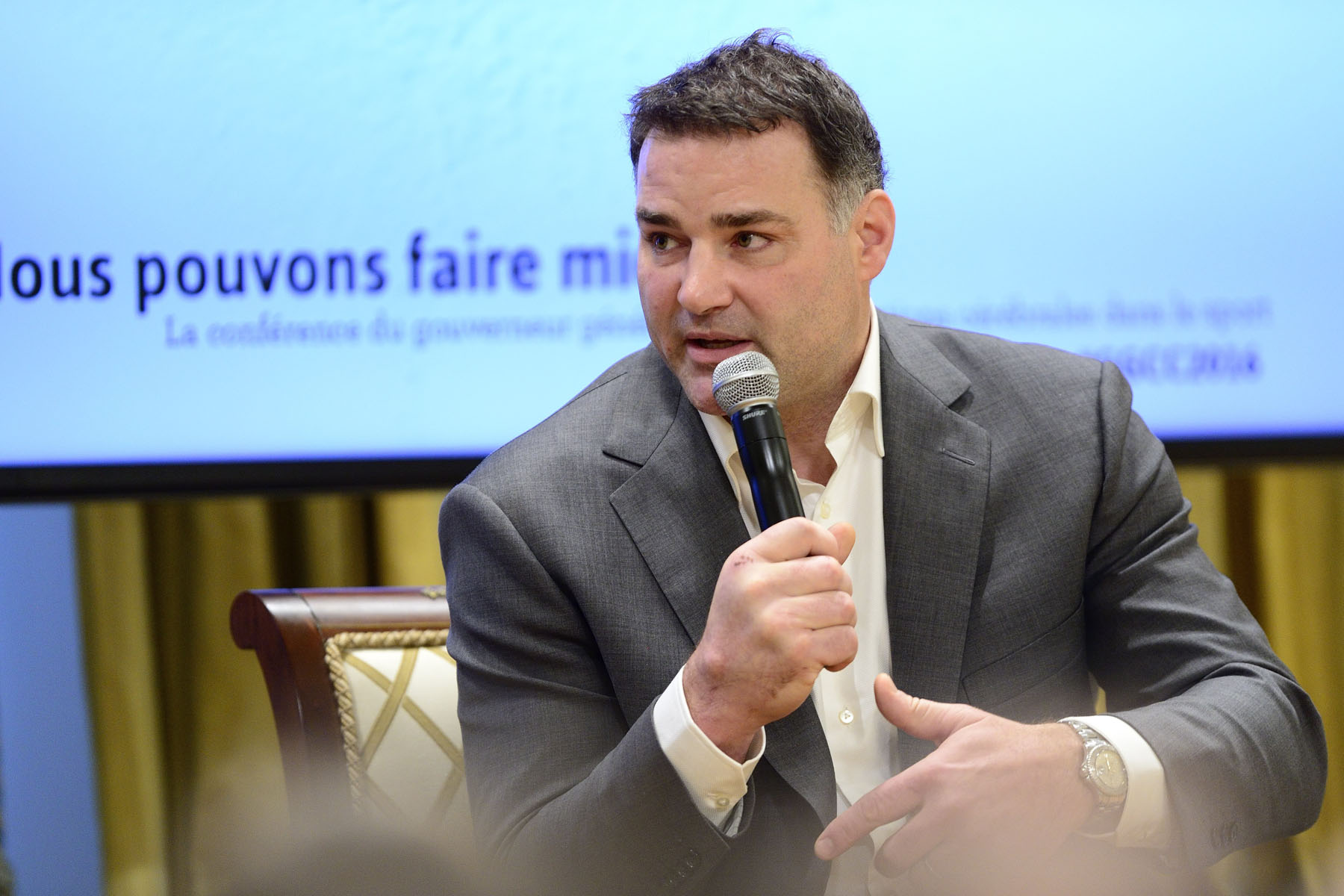 Retired NHL player Eric Lindros said how it is important to not work in silos and to develop a simple national strategy that focuses on keeping youth safe in sport.