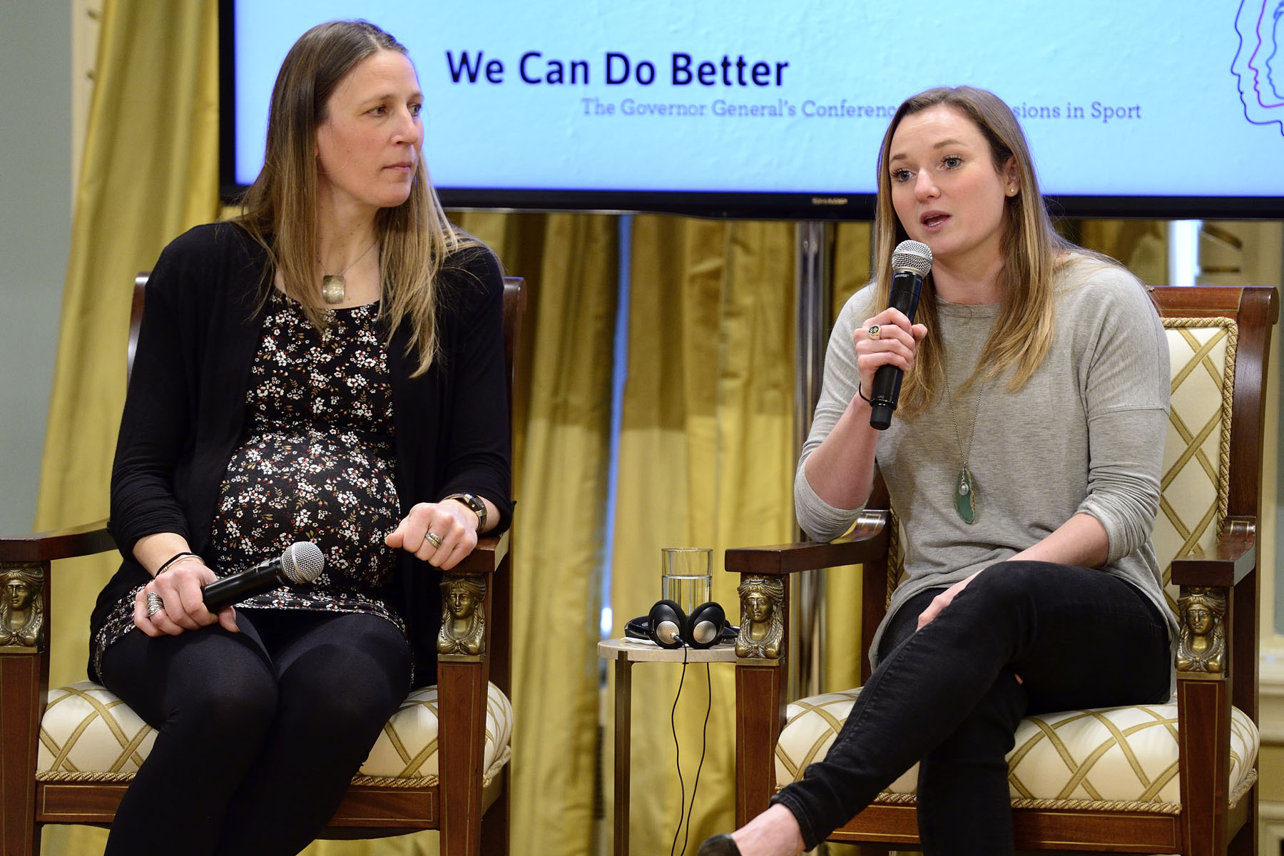 "The theme for the second panel of the conference was ""Olympians and Paralympians Overcoming Concussions."" Rosie MacLennan, two-time Olympic gold medallist in trampoline shared the gruelling mental and physical rehabilitation she underwent before being able to return to the sport."