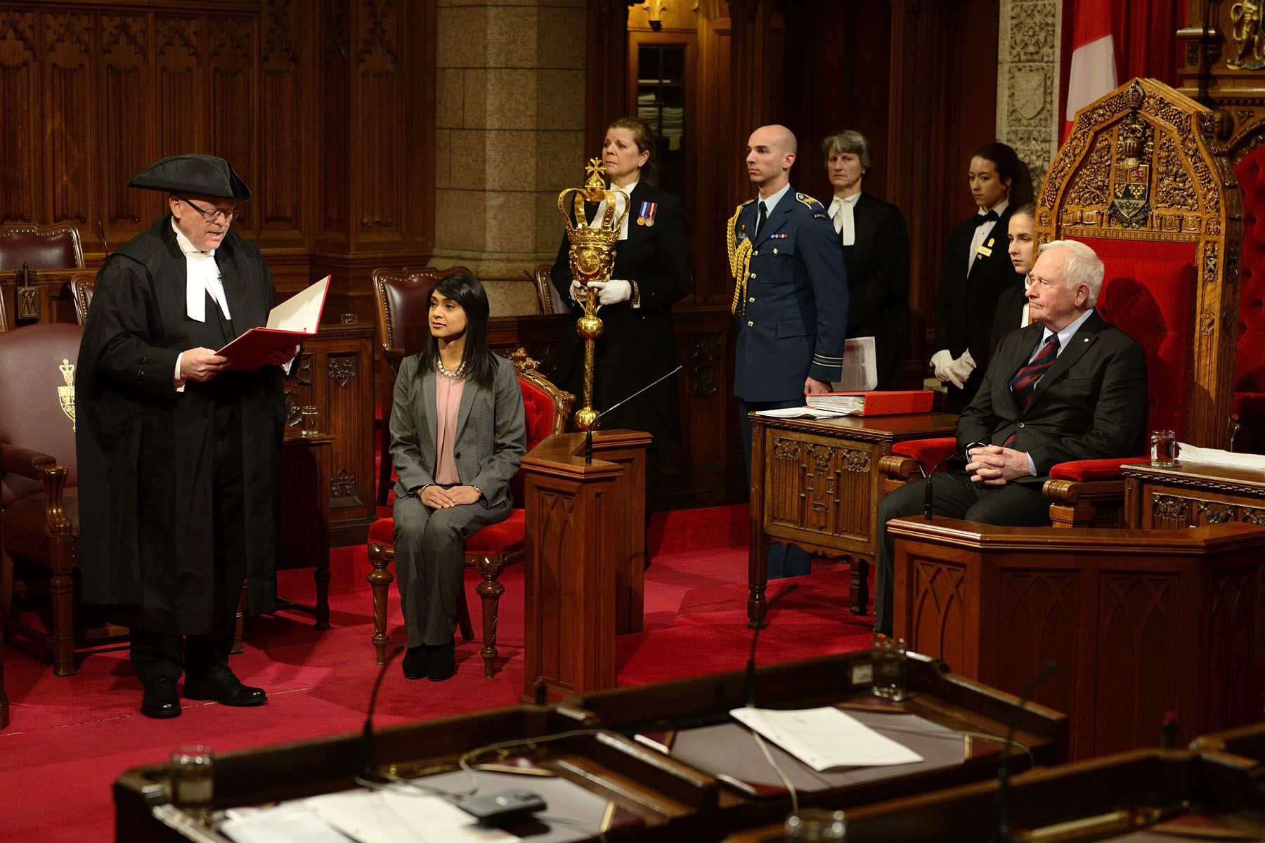 On December 12, 2016, the Governor General granted royal assent to bills during a formal ceremony in the Senate Chamber.