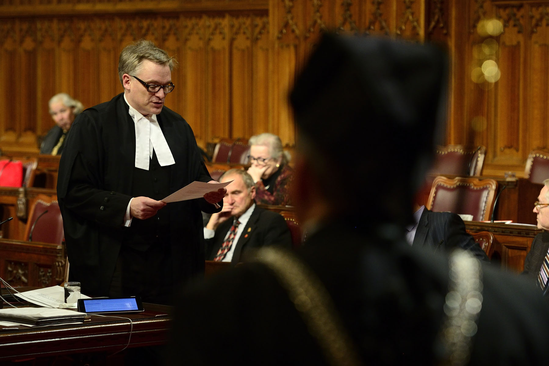 By tradition, Royal Assent is accorded in the Senate Chamber in the presence of members of the House and Senate. Since the Royal Assent Act of 2002, it may be signified by a written declaration by the governor general or by a deputy of the governor general (one of the justices of the Supreme Court).