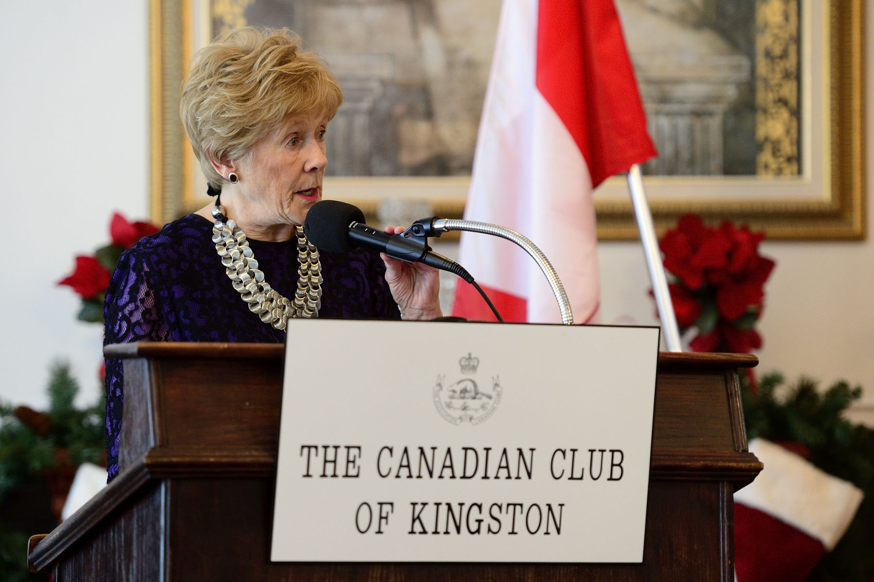 Mrs. Johnston spoke about her role as the Governor General's spouse and about mental health, an issue that has come to define her time in office.