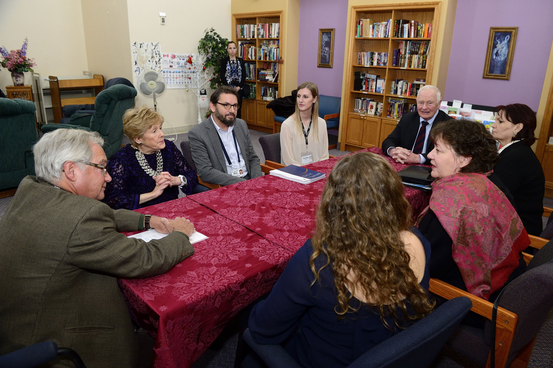 They met with anti-stigma leaders and mental health researchers to learn about advances in recovery for individuals with long-term mental illness.