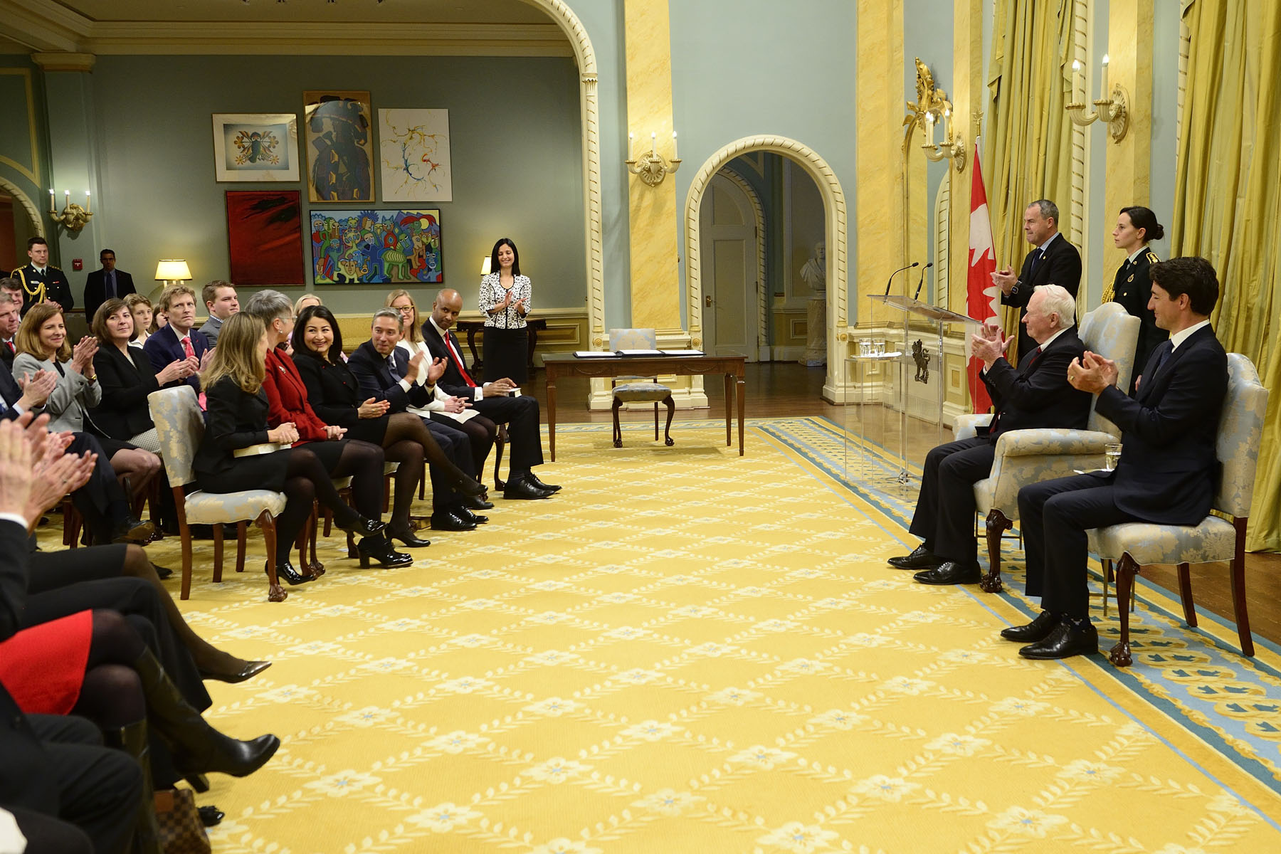 His Excellency the Right Honourable David Johnston, Governor General of Canada, preside over a swearing-in ceremony on Tuesday, January 10, 2017 at Rideau Hall.