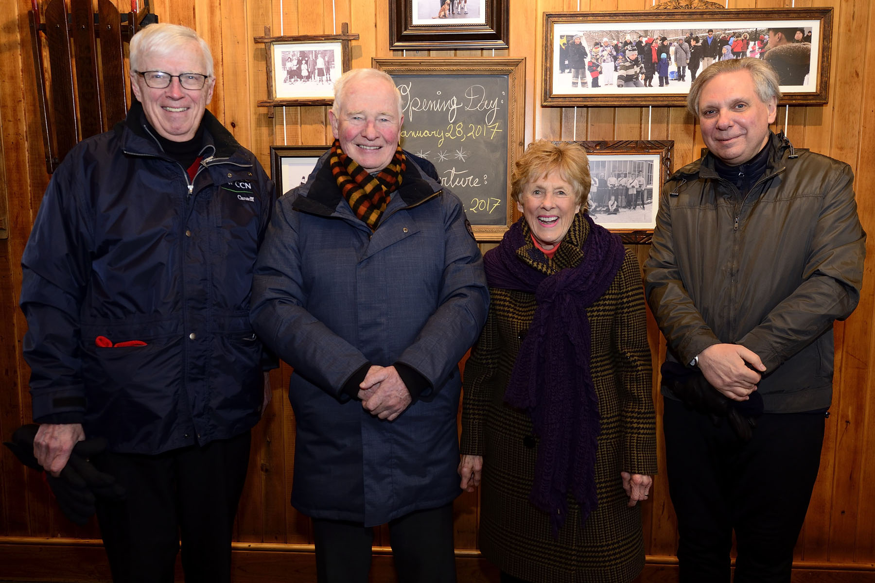 Mr. Russell Mills, Chair of the National Capital Commission, Governor General David Johnston, Mrs. Sharon Johhnston and Dr. Mark Kristmanson, Chief Executive Officer of the National Capital Commission, were the first to enter the refurbished Winter Pavilion.